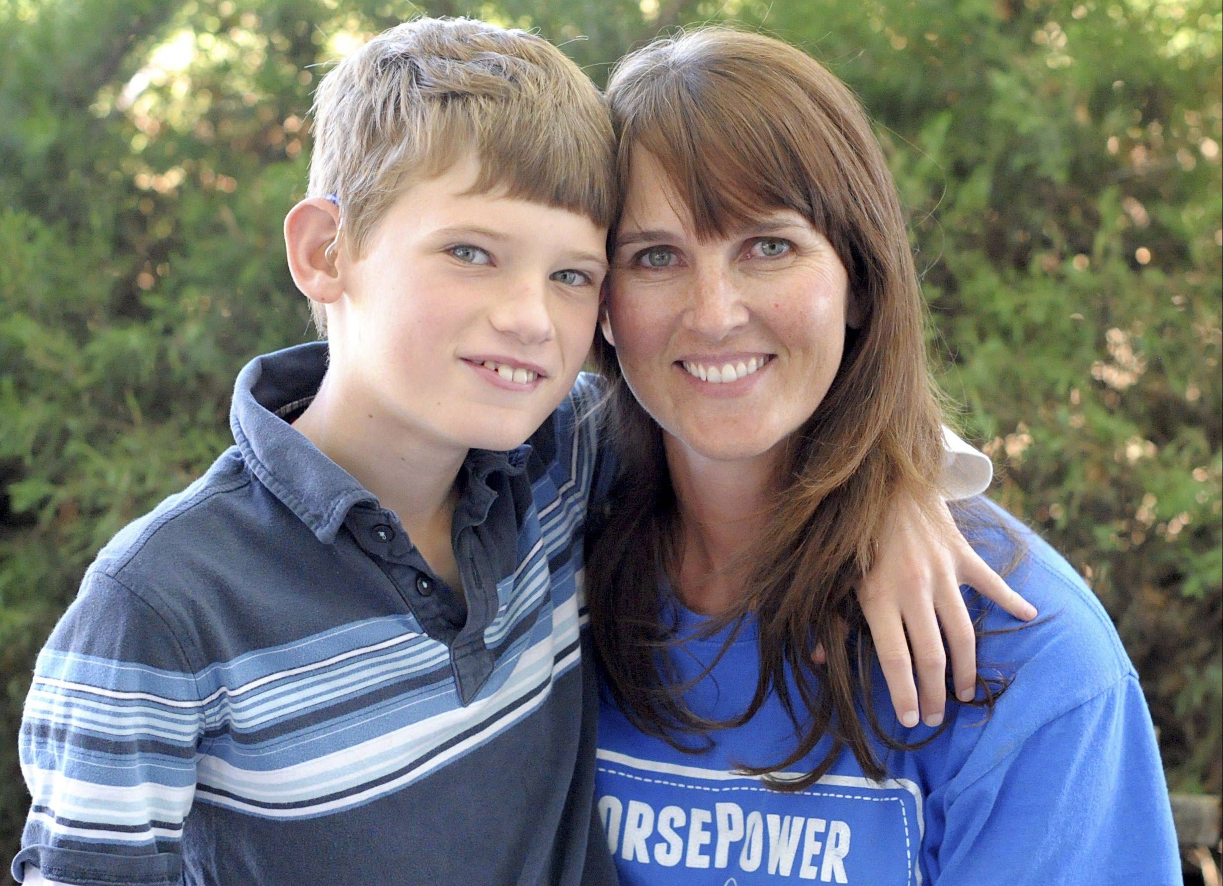 Carrie Capes of Maple Park was motivated to start HorsePower Therapeutic Riding after her son, Max, 12, starting therapeutic riding four years ago. Max has cognitive impairment, is hearing-impaired, has fine and gross motor skill delays, and is unable to speak.