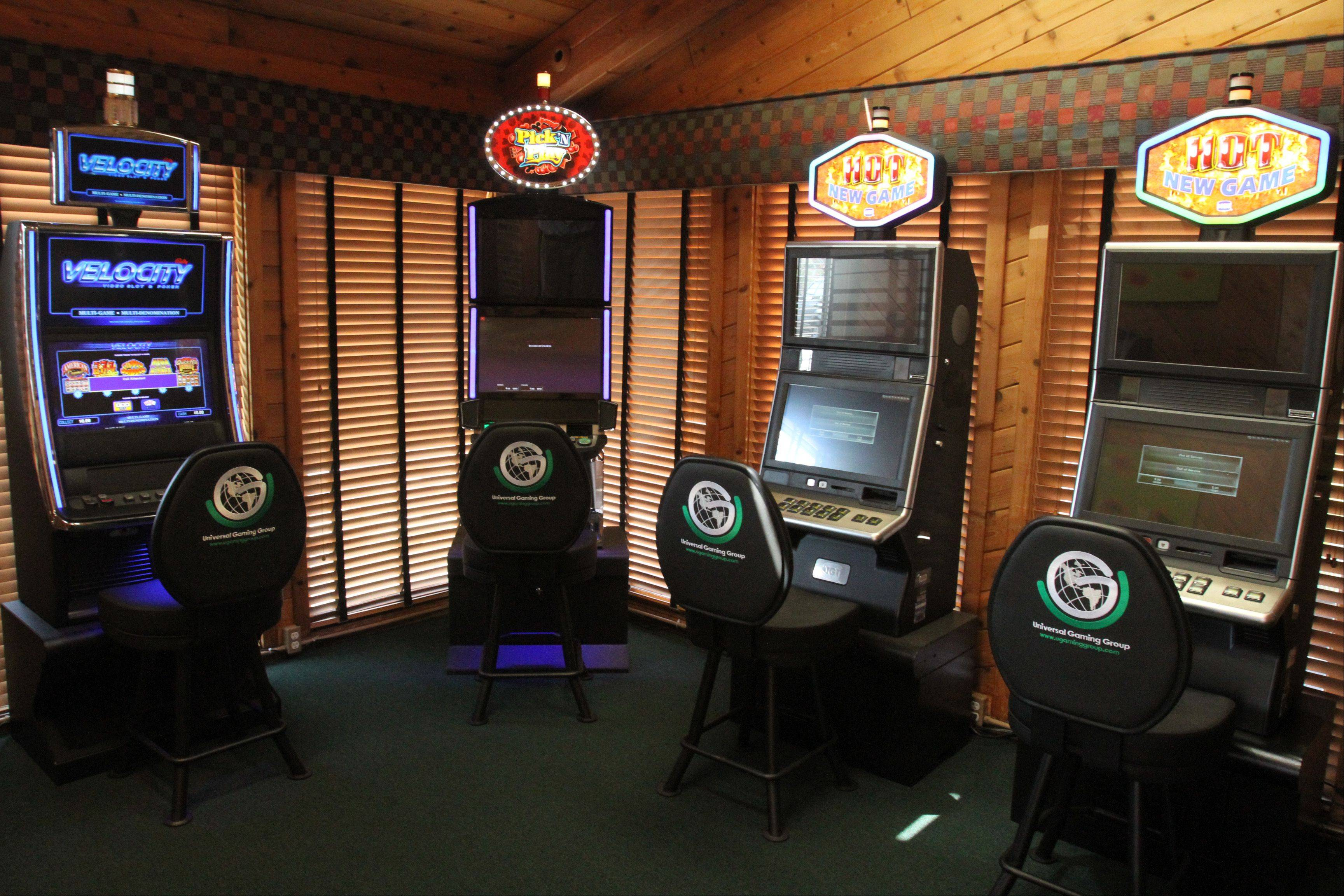 Universal Gaming Group video gambling machines at The Assembly American Bar & Cafe in Hoffman Estates.