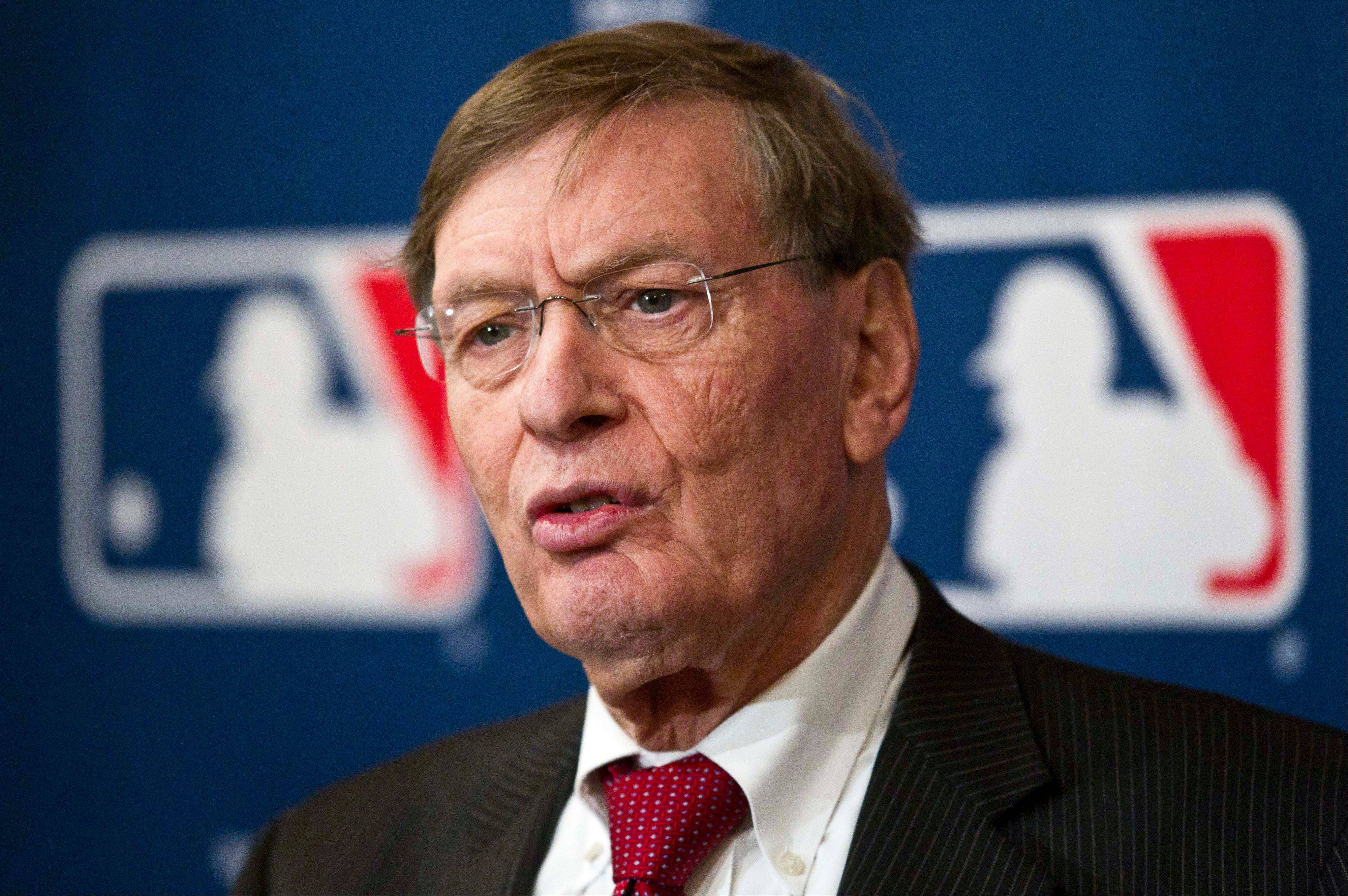Major League Baseball commissioner Bud Selig has said he doesn't plan to interfere if Melky Cabrera wins the NL batting title while serving his 50-game suspension for a positive drug test.