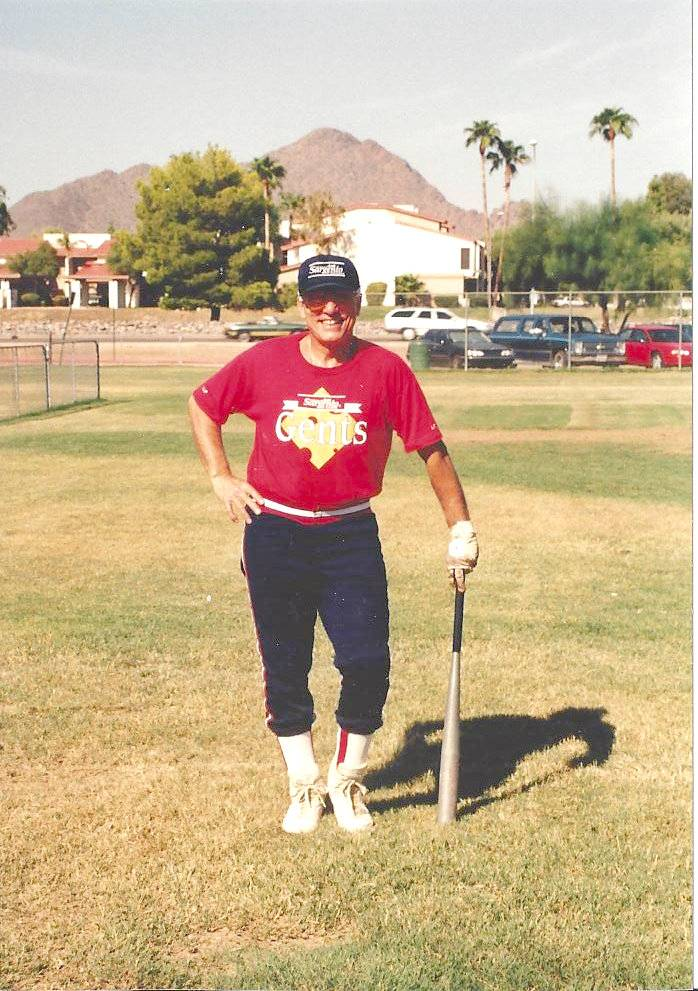 78-year old Howie Lipschultz has been playing baseball since the age of five.