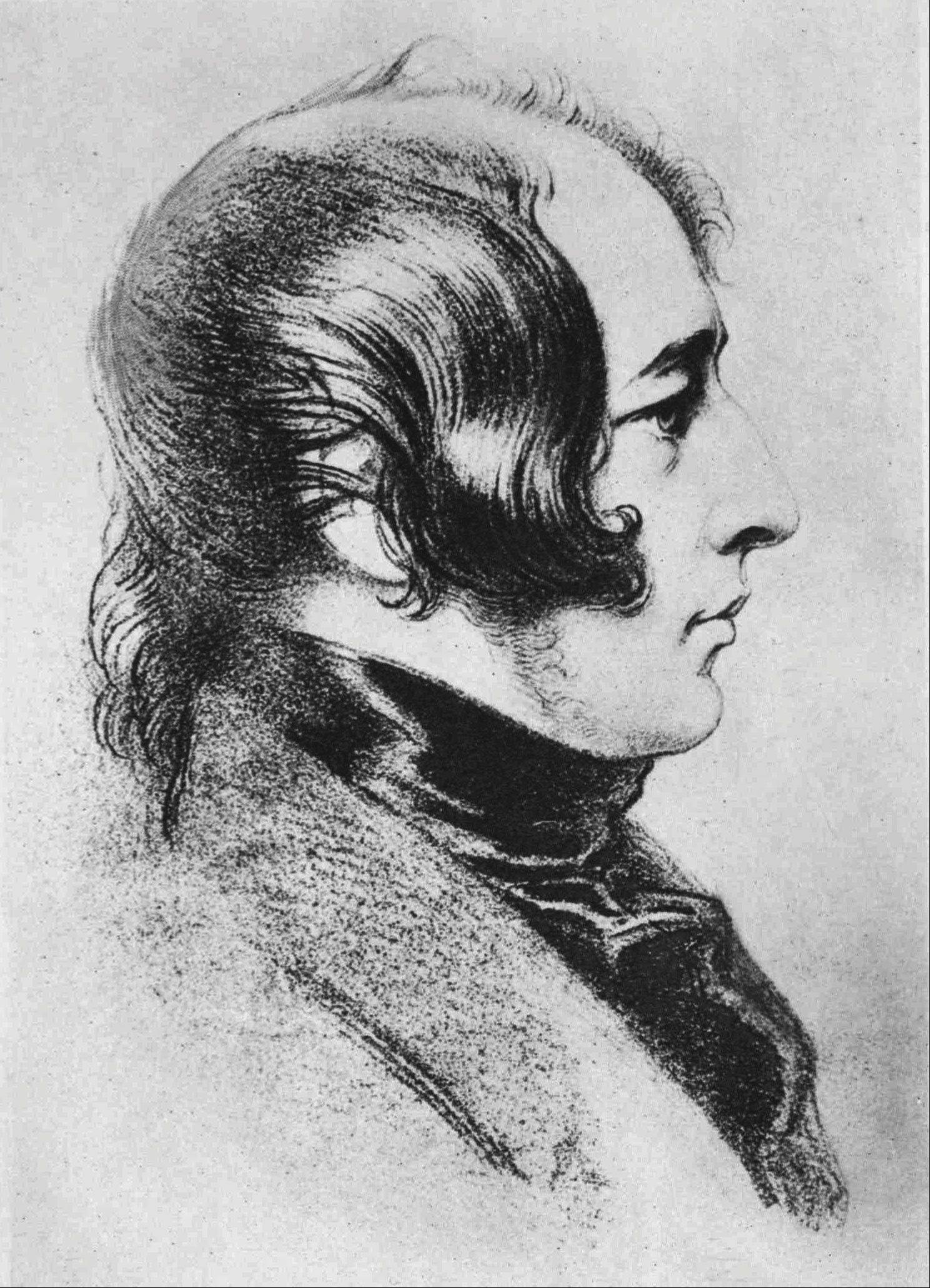 A portrait of Charles Dickens circa 1840.