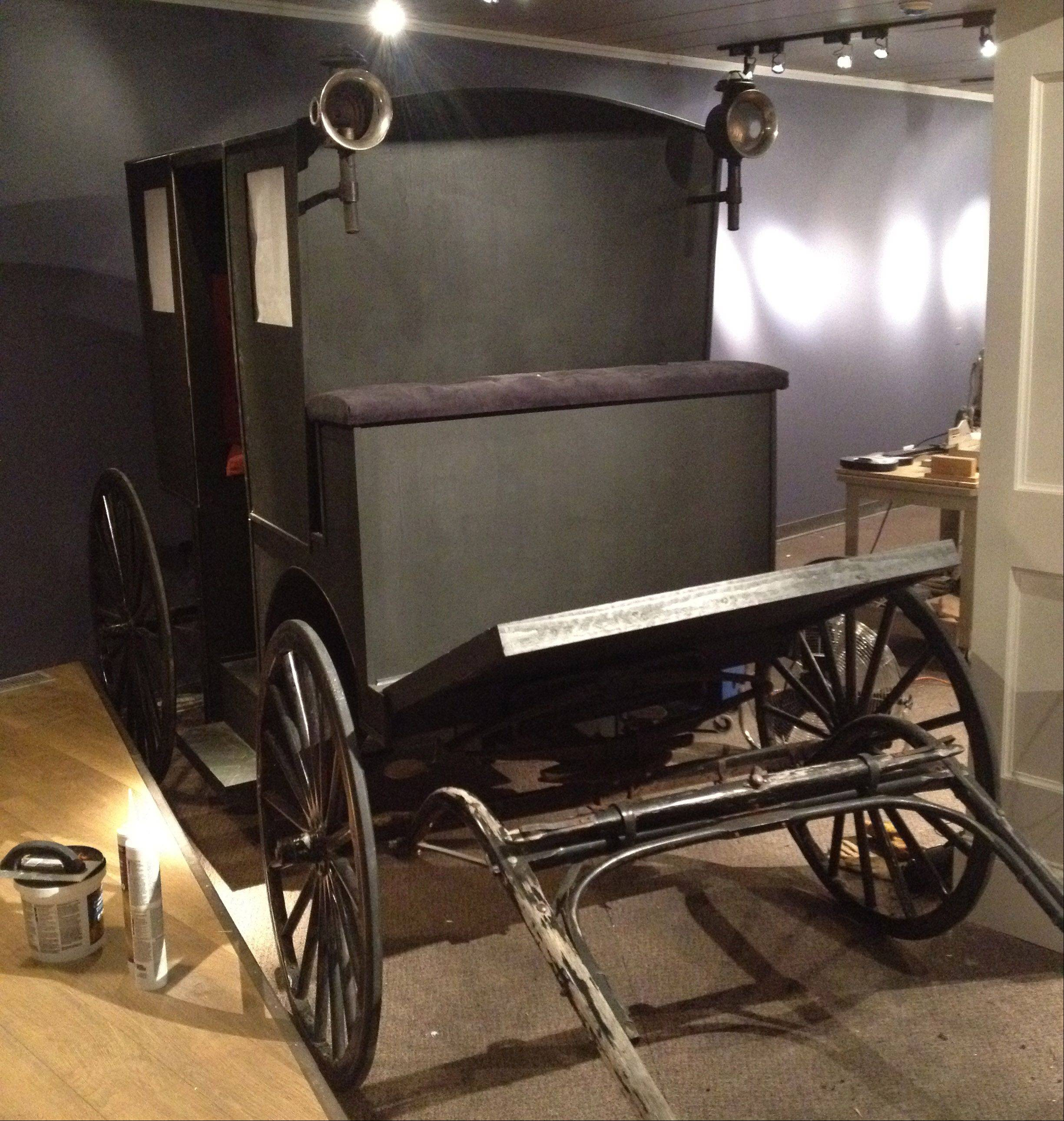 A restored carriage which will be fitted with screens in the windows to give visitors a quick summary of some of Charles Dickens' popular novels. The Lake County Discovery Museum will host a new Dickens exhibit starting Sept. 29