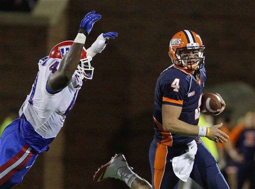 Louisiana Tech turned six Illinois turnovers and a 284-yard, four-touchdown night from quarterback Colby Cameron into a 52-24 road upset of Illinois Saturday. Cameron's favorite target was Quinton Patton who caught six balls for 164 yards and two touchdowns for the Bulldogs.