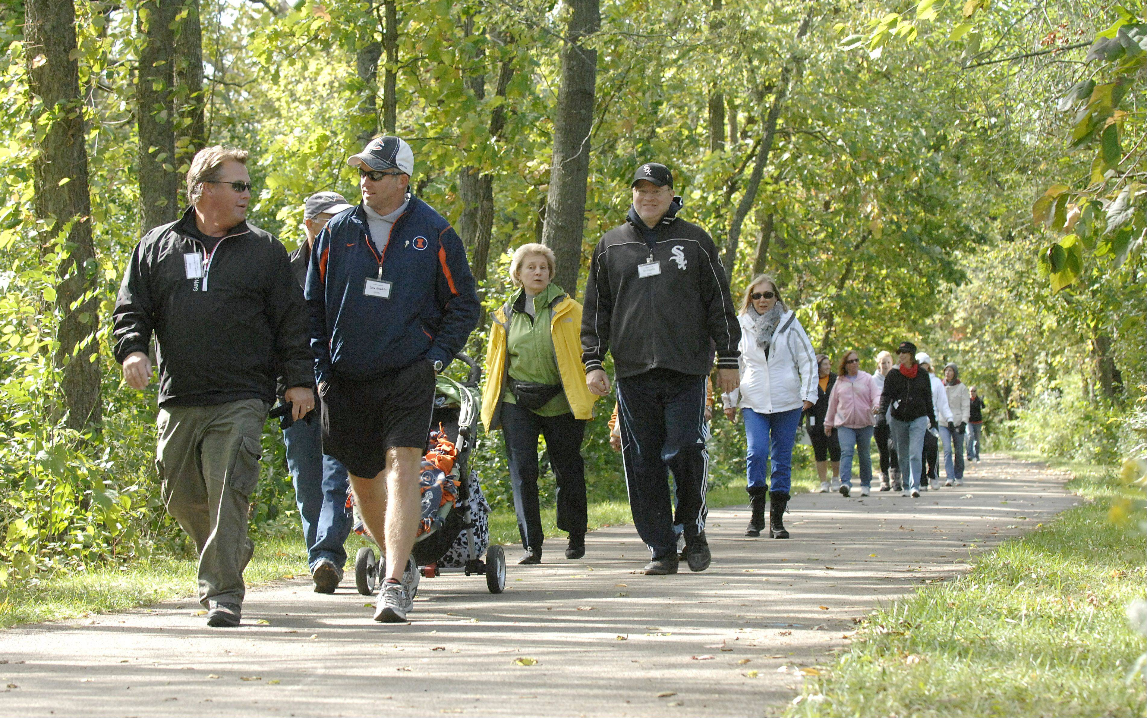 About 190 participants joined in Fox Valley Volunteer Hospice's sixth annual Hike for Hospice 5K on Saturday in Batavia.