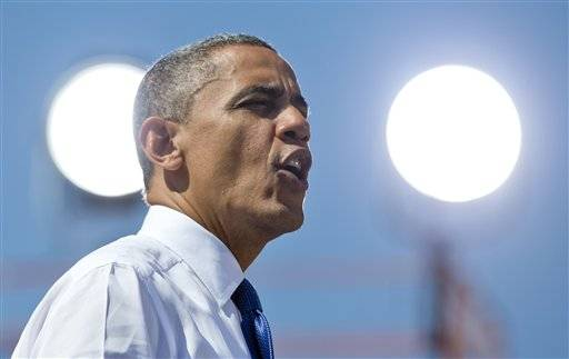President Barack Obama campaigns in Virginia on Sept. 21.