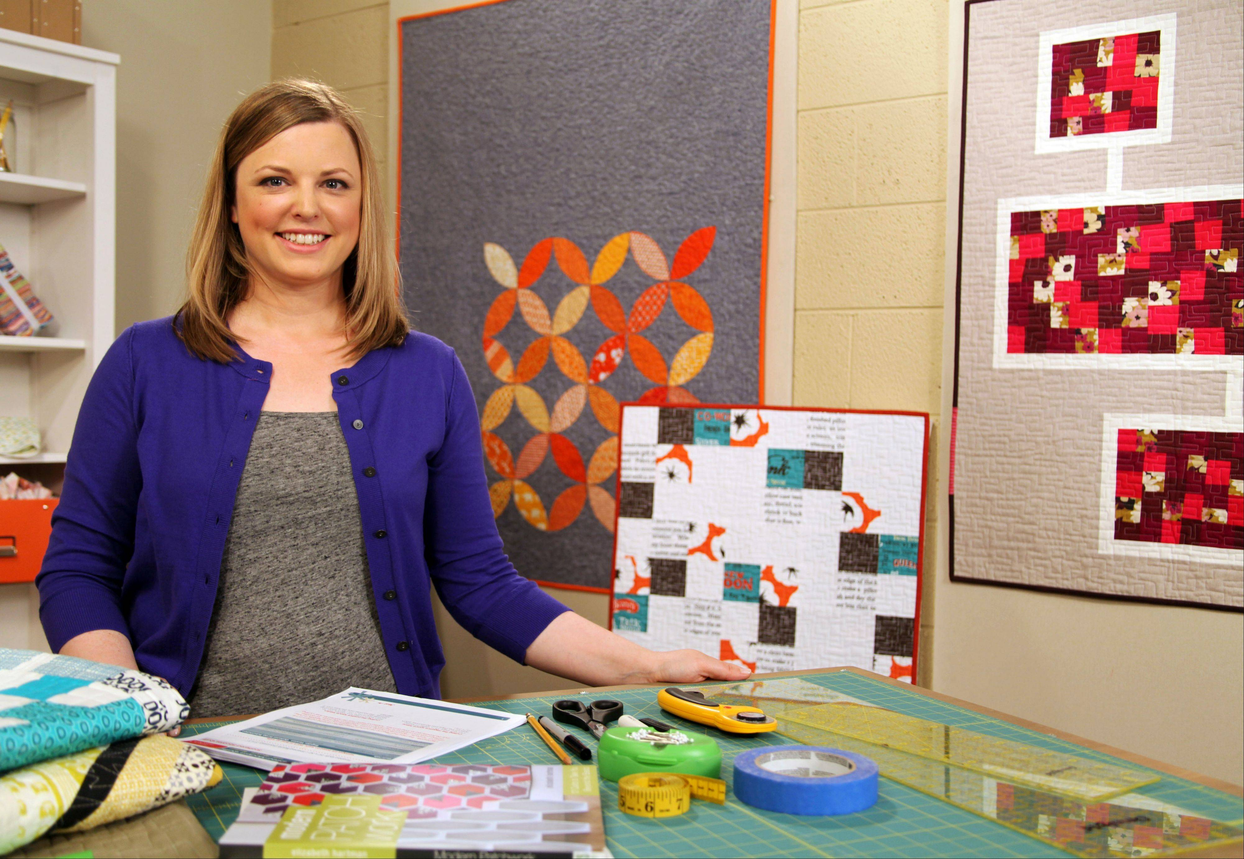 "Elizabeth Hartman teaches ""Inspired Modern Quilts and Creative Quilt Backs"" online at Craftsy. A self-taught quilter from Portland, Ore., Hartman is the author of ""Modern Patchwork"""