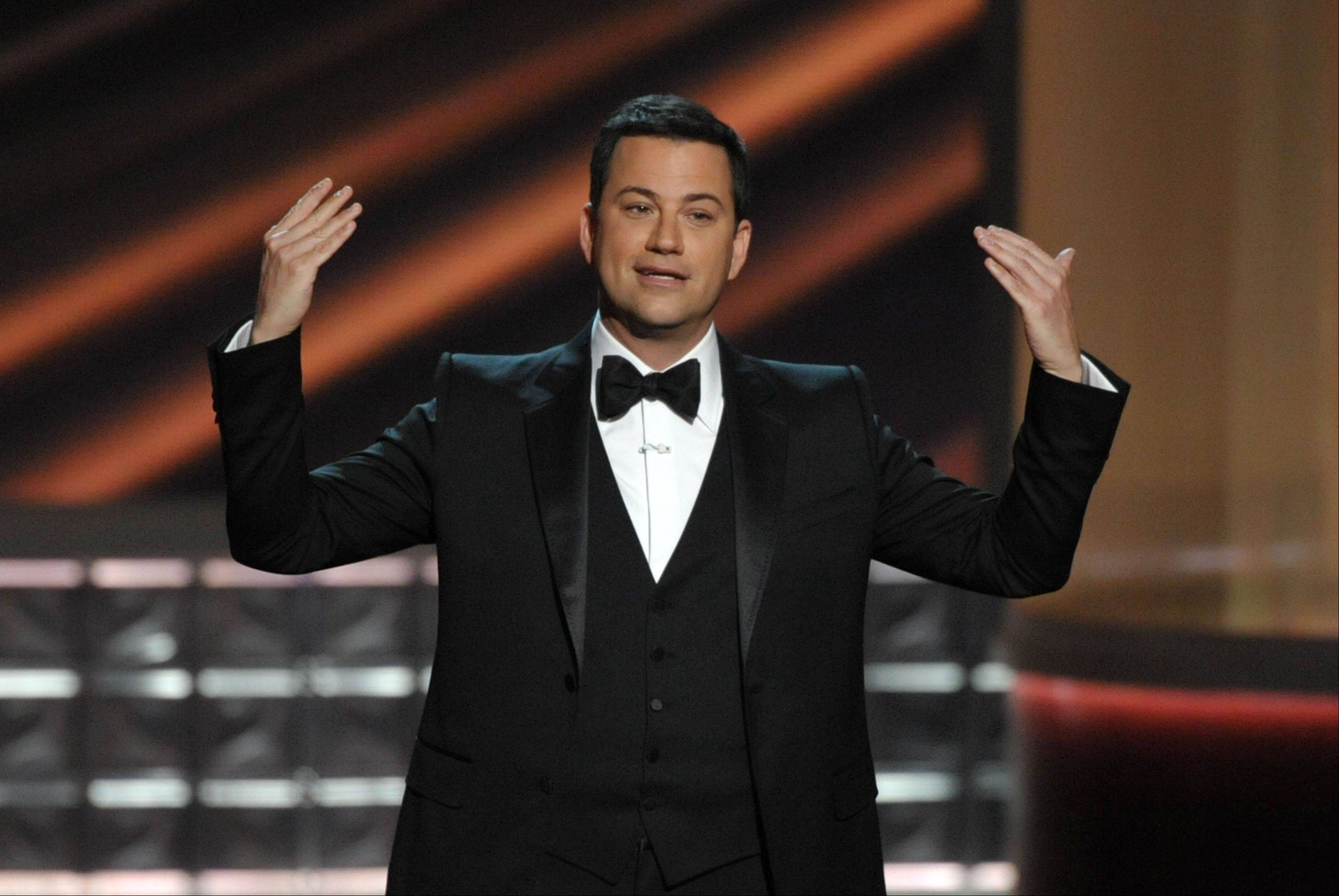 Jimmy Kimmel hosted the 64th Primetime Emmy Awards at the Nokia Theatre on Sunday in Los Angeles.