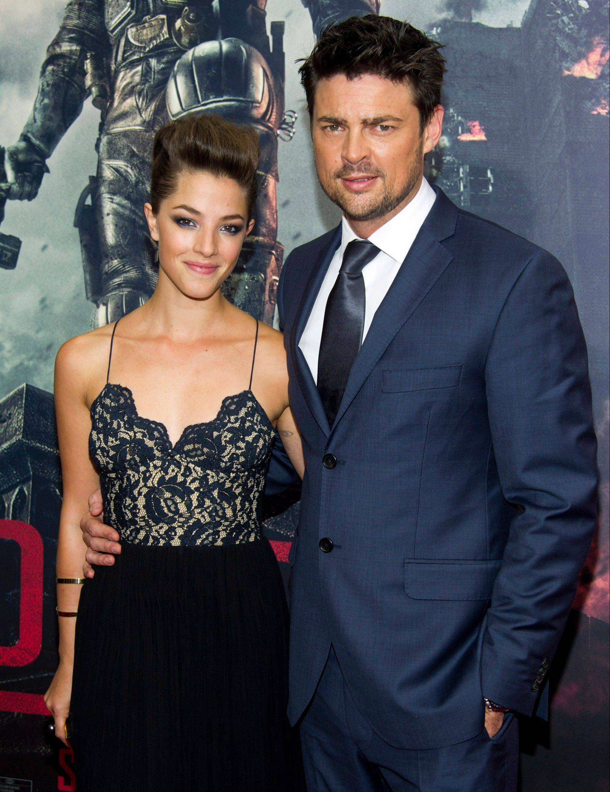 "Olivia Thirlby and Karl Urban, stars of the new move ""Dredd 3-D,"" attend the New York premiere earlier this week."