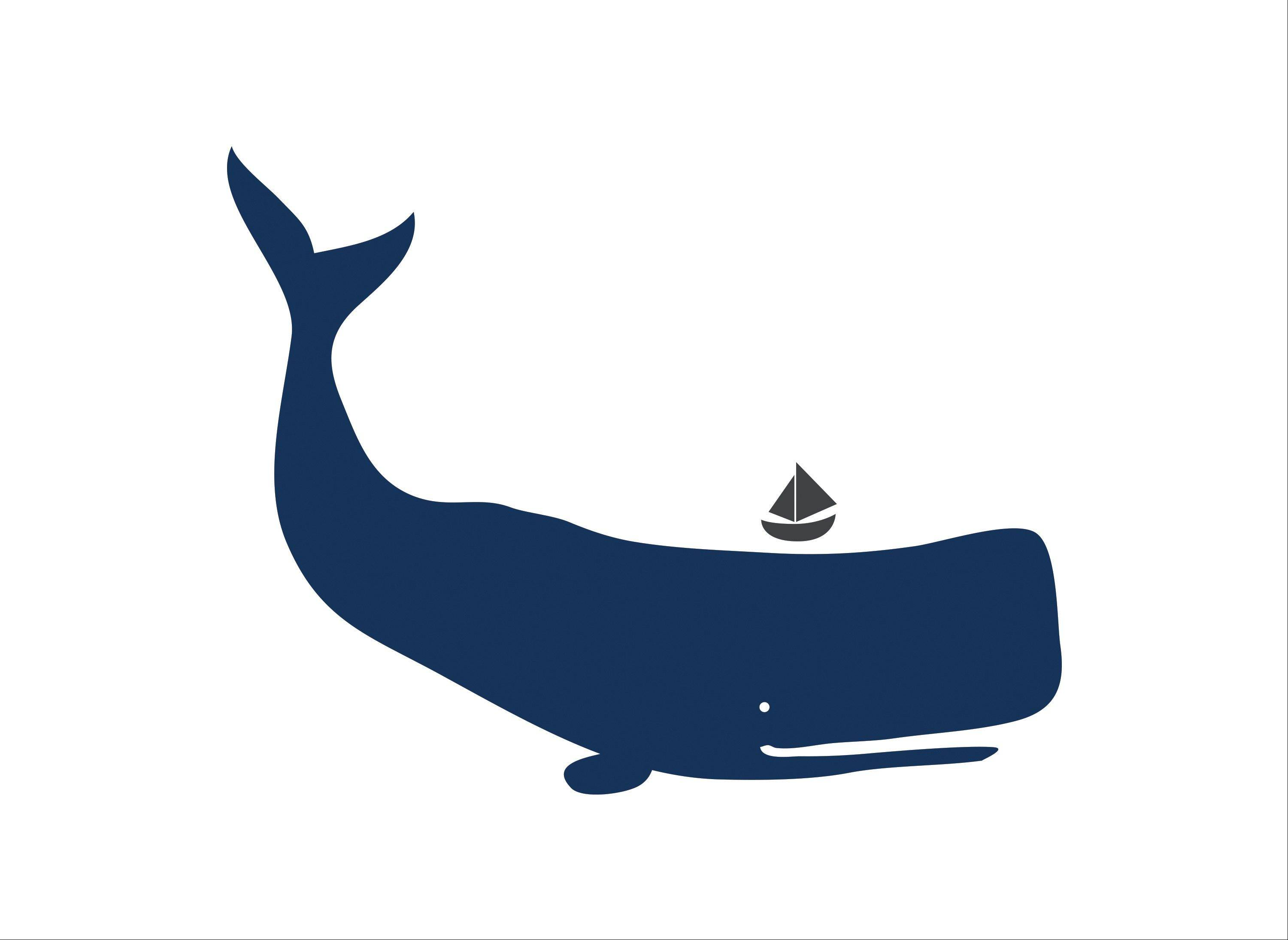 A whale wall decal from the Toronto-based LittleLion Studio.