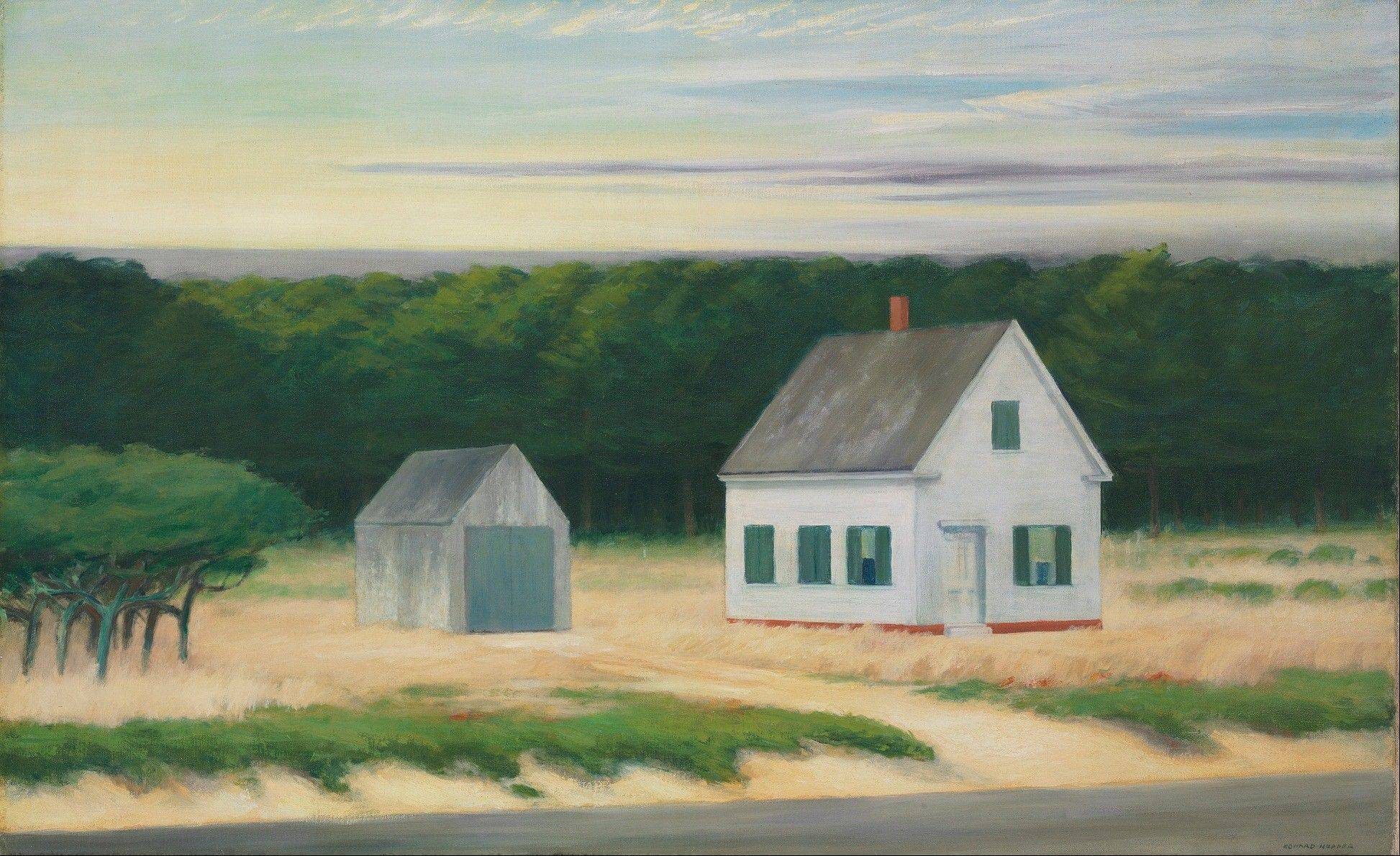 This undated photo provided by Christie's shows a painting of a Cape Cod autumn scene by Edward Hopper. The large-scale painting is coming to auction in New York City and is expected to sell for $8 million to $12 million.