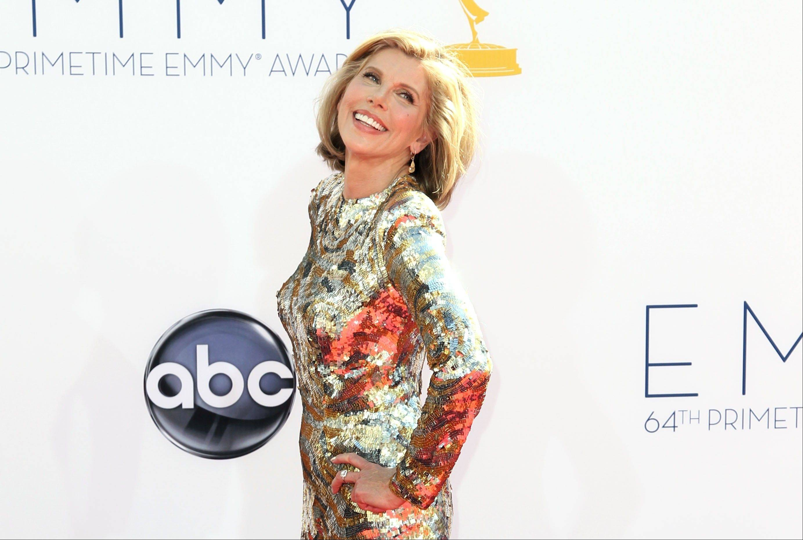"""The Good Wife"" star Christine Baranski hams it up in front of the press line."