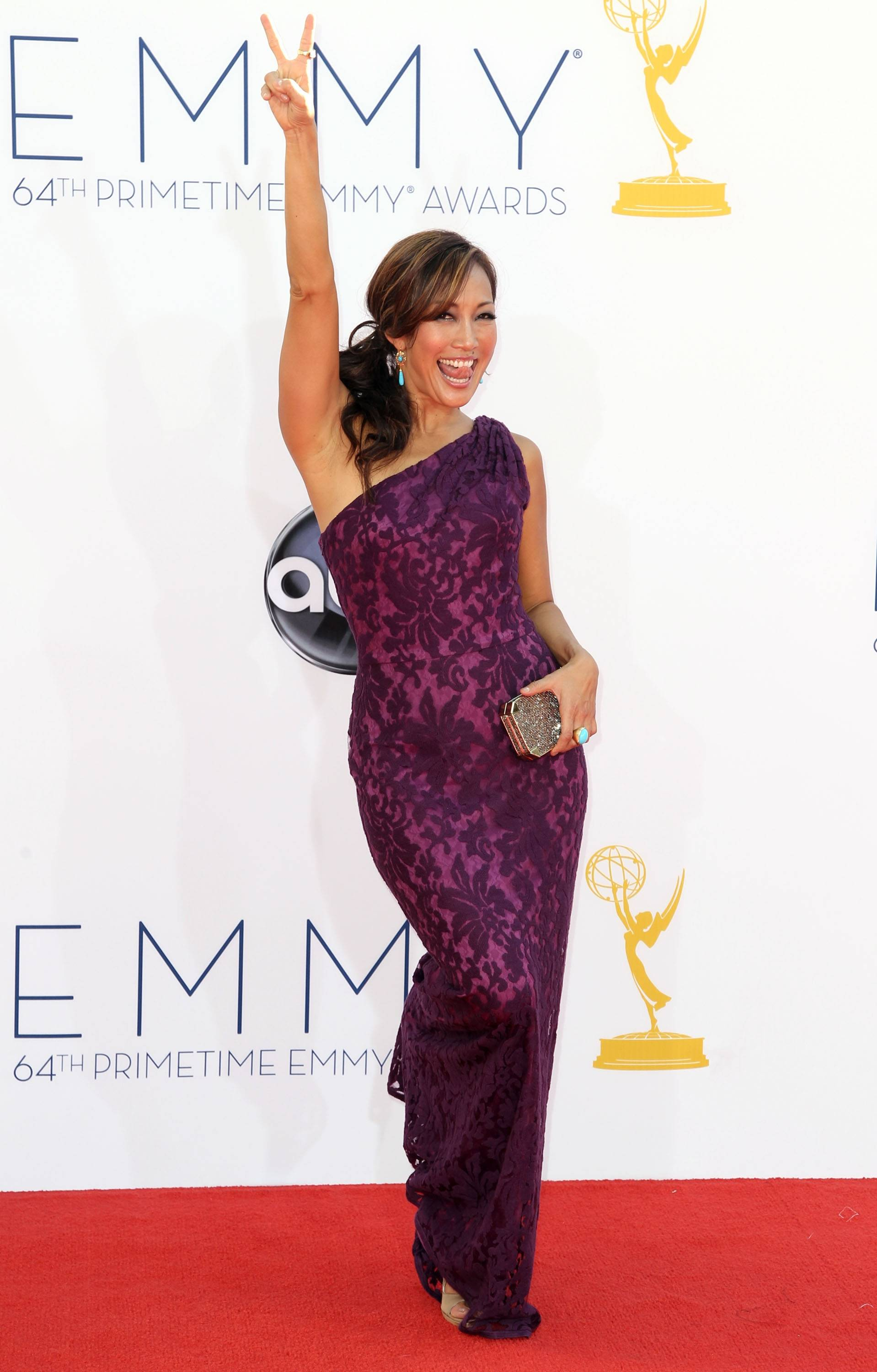 """Dancing with the Stars"" judge Carrie Ann Inaba brings her bigger than life personality to the red carpet."