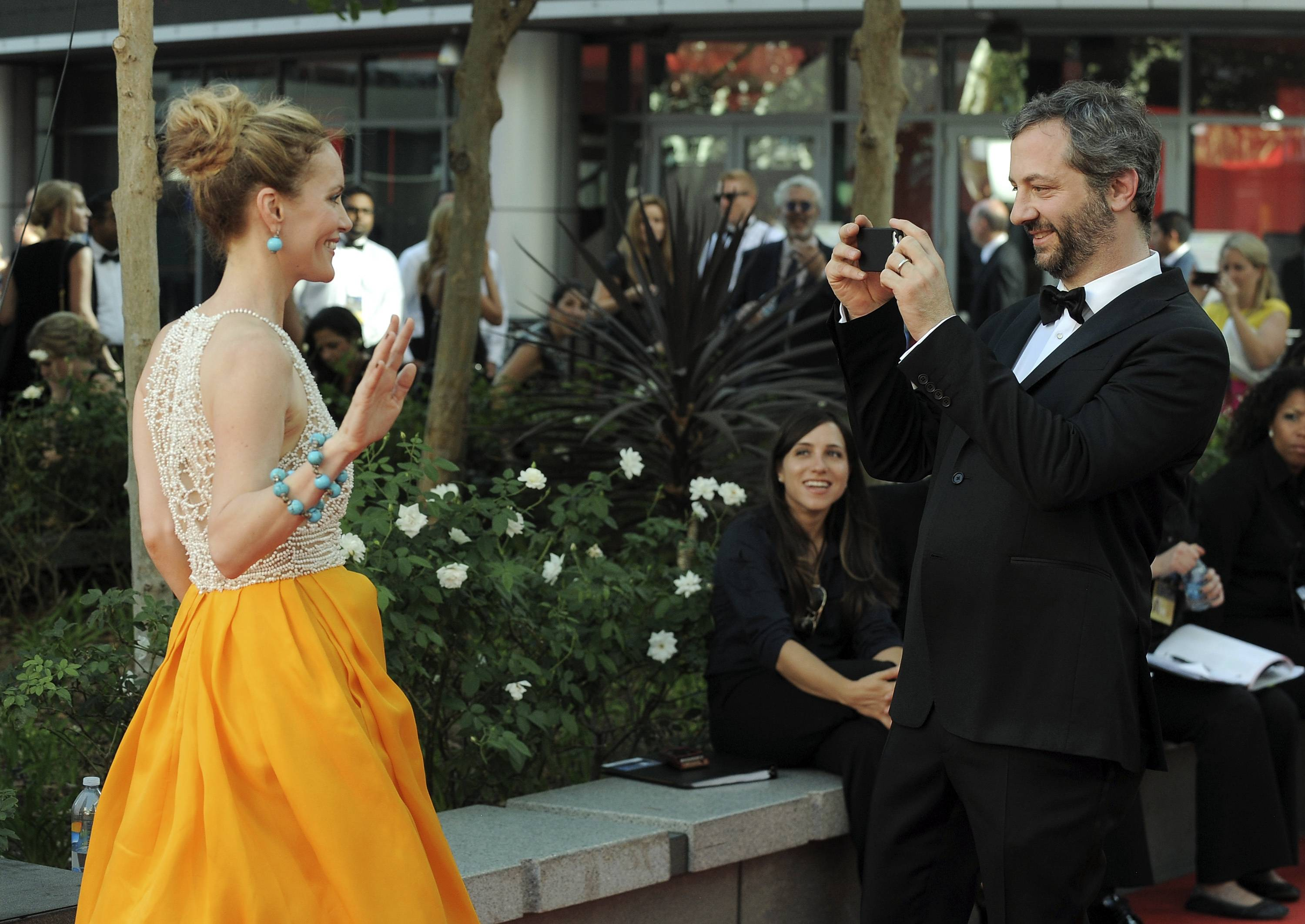 Actress Leslie Mann gets her picture taken by her husband, director Judd Apatow.