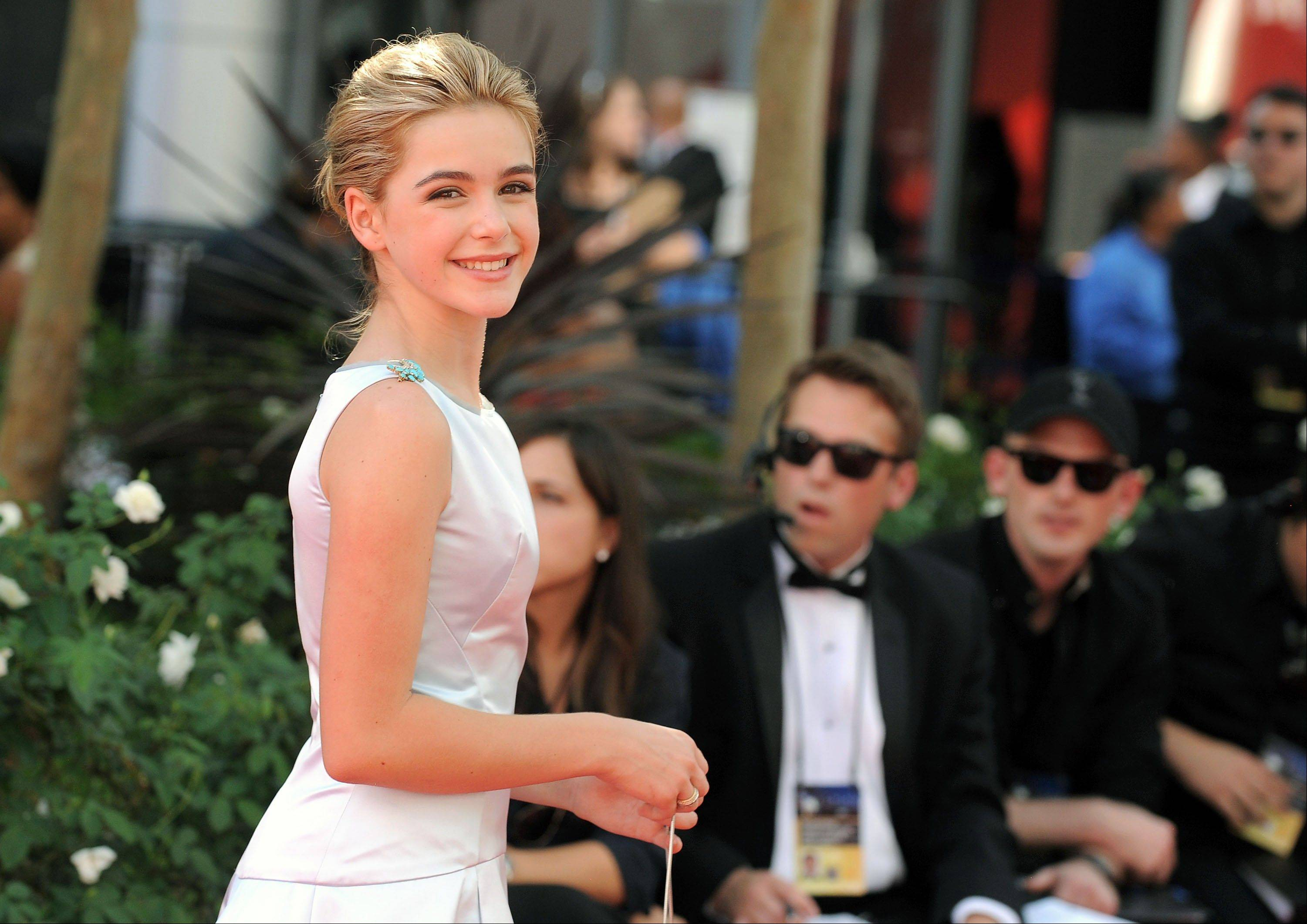 "Actress Kiernan Shipka from ""Mad Men"" arrives at the 64th Primetime Emmy Awards at the Nokia Theatre."