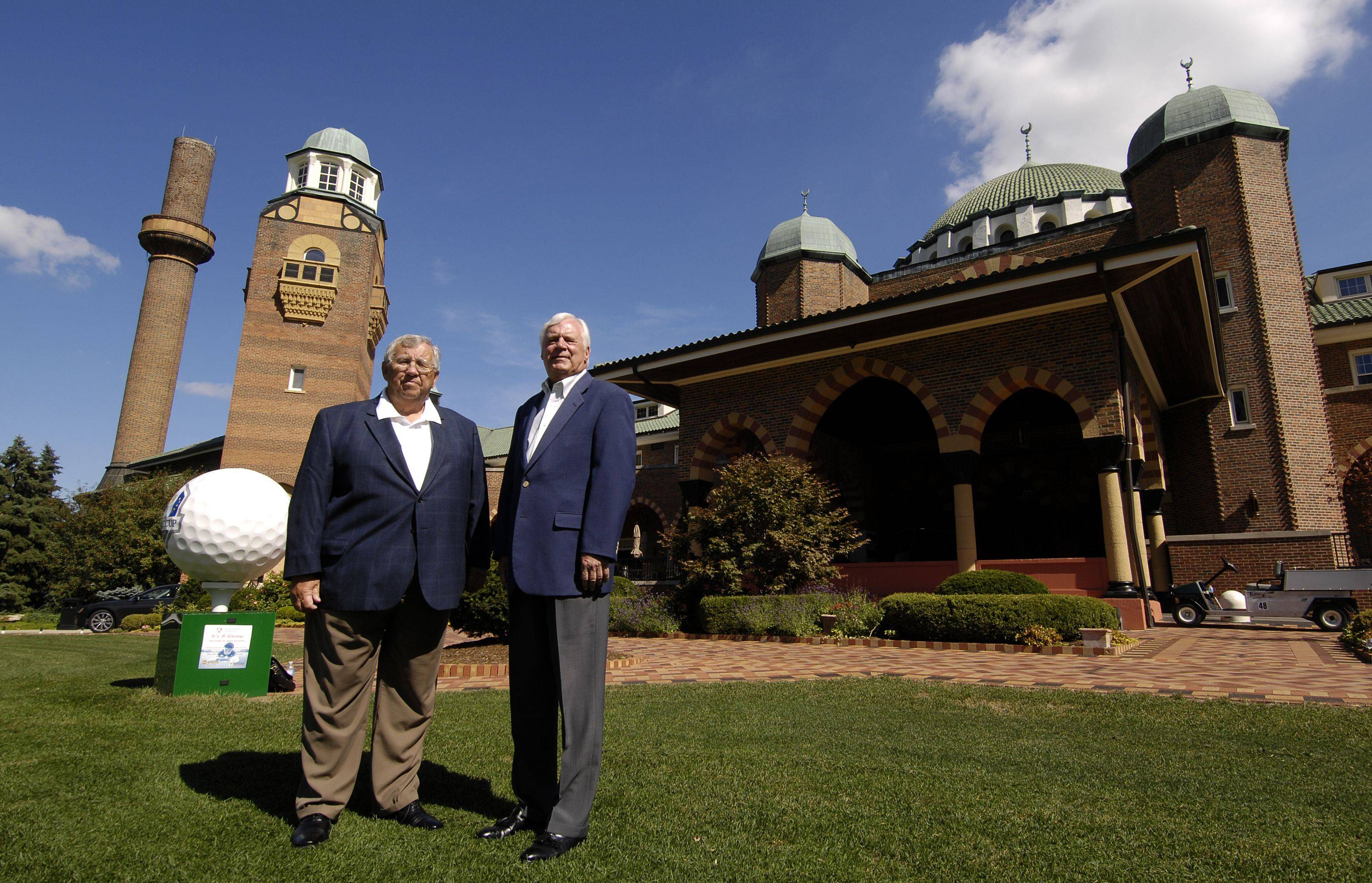 Longtime Medinah Country Club members Alvin Reitz, left, and Calvin Koeppel are serving as club historians during this week's Ryder Cup. Both men have been associated with the prestigious club since they were young.