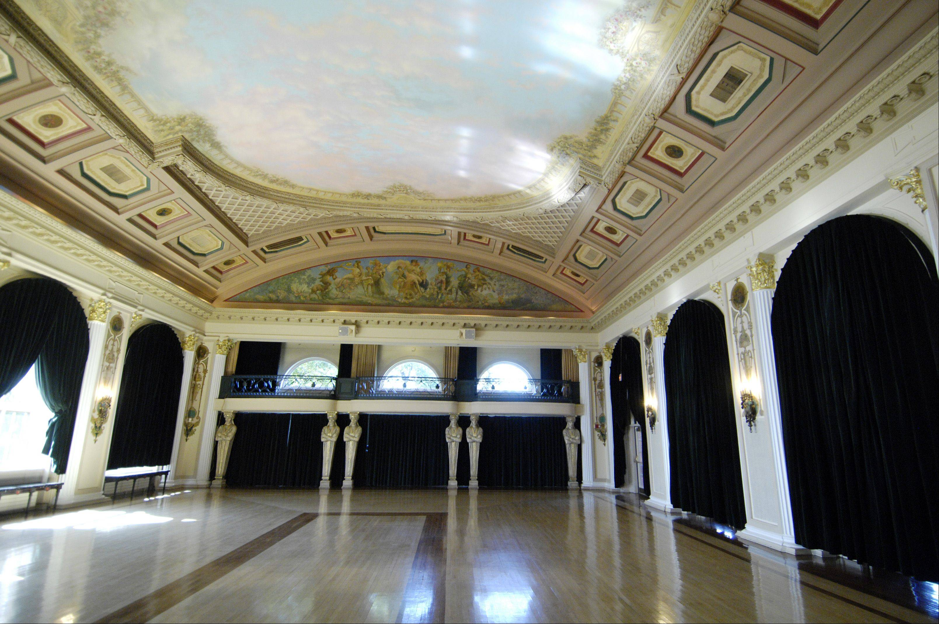 Members say the ballroom inside Medinah Country Club's clubhouse is often used for weddings.