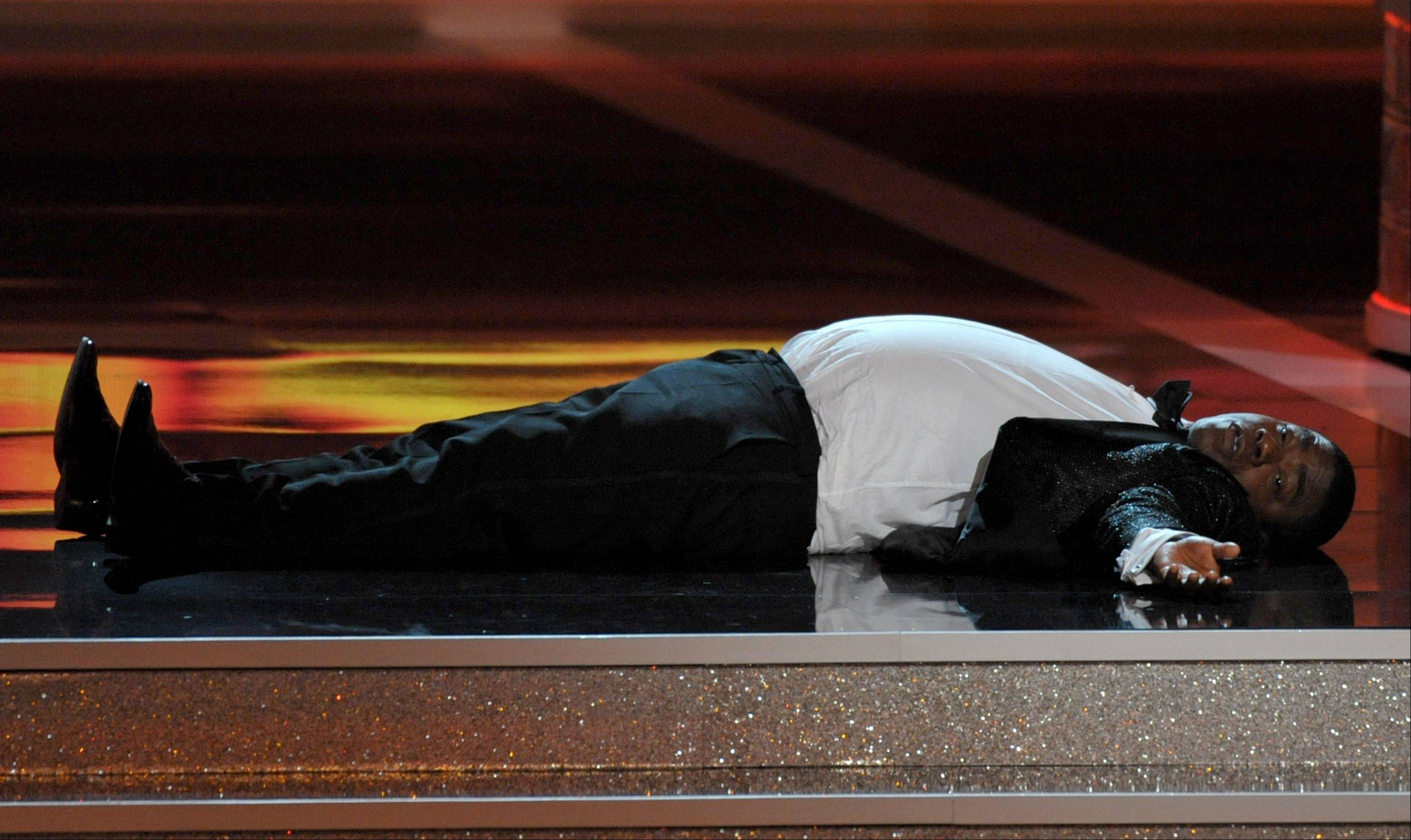"""30 Rock"" starTracy Morgan performs onstage at the 64th Primetime Emmy Awards."