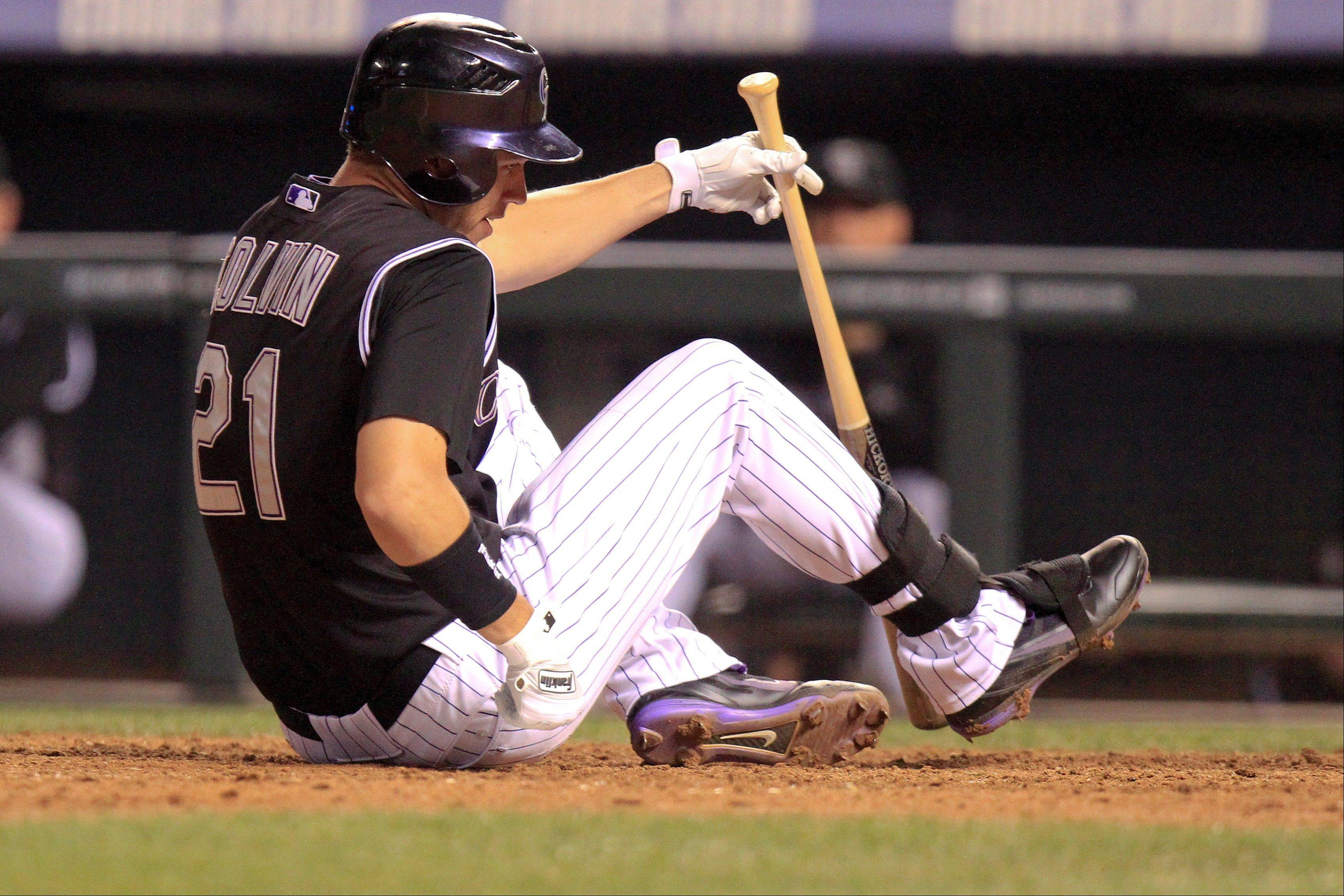 Tyler Colvin has 18 home runs and 67 RBI for the Rockies this season.
