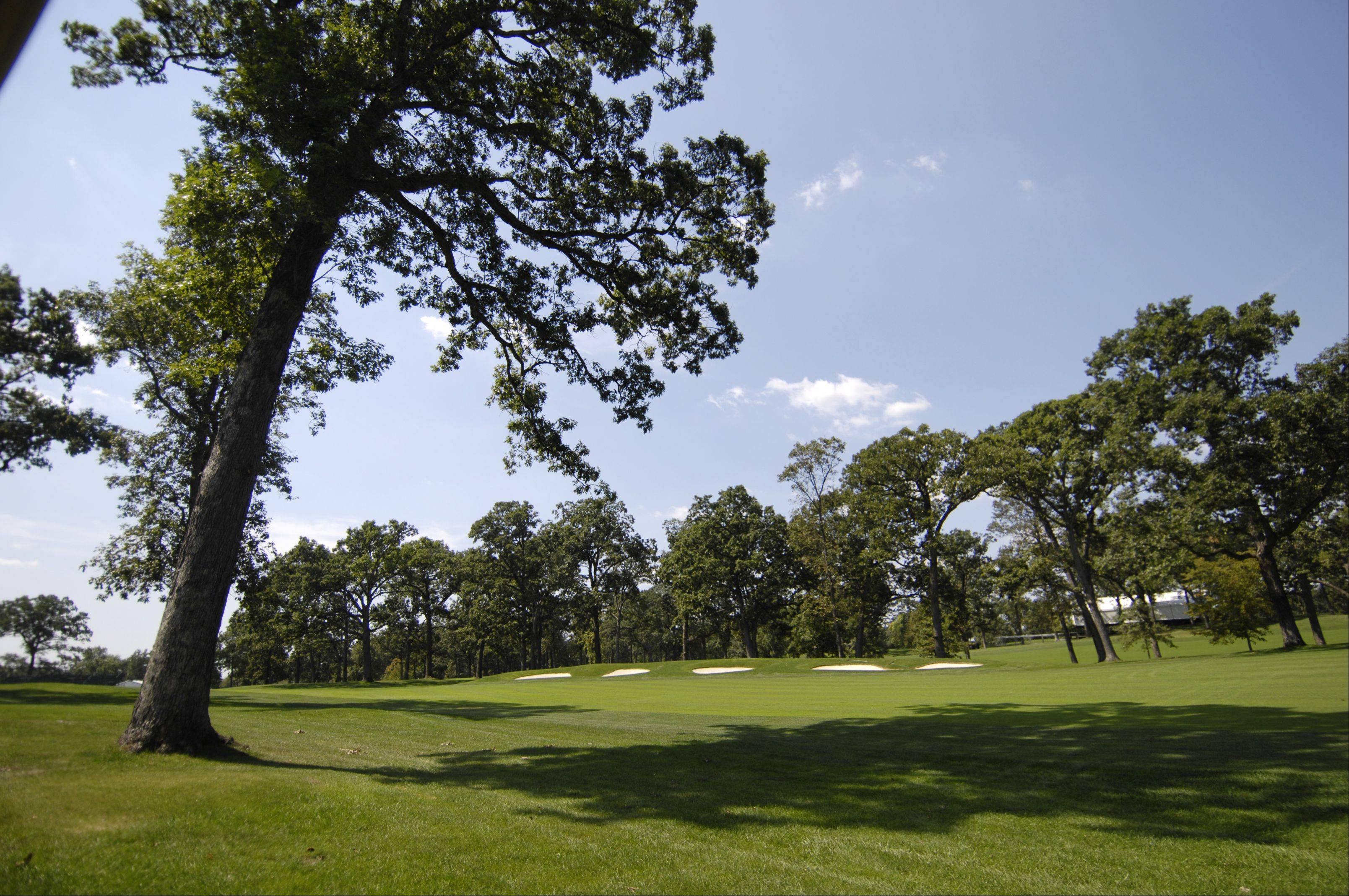Improvements to the Medinah Country Club course included the removal of hundreds of trees to help air flow and growing conditions.