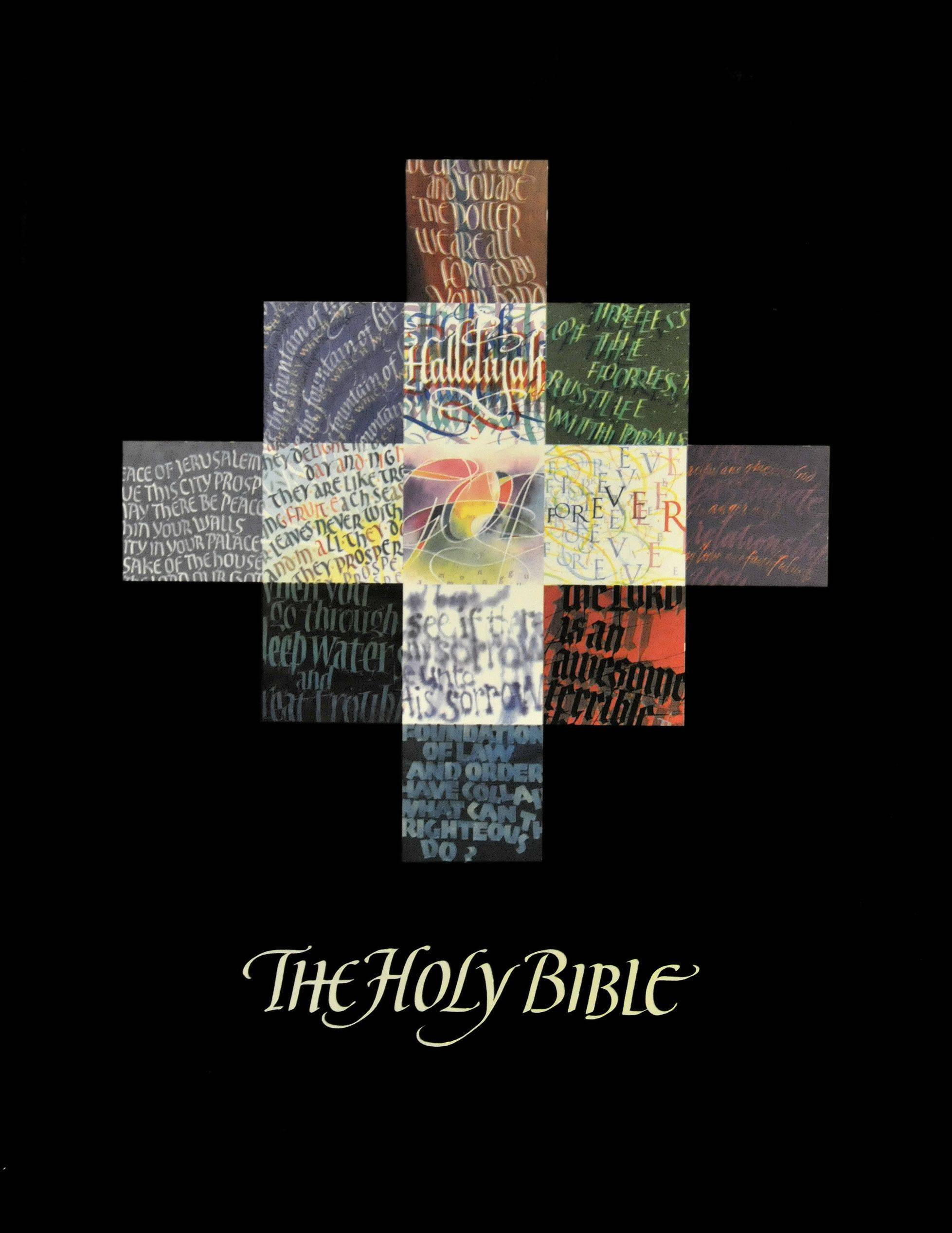 Timothy Botts did the cover illustration for his calligraphy edition of the Bible, which is no longer in print.