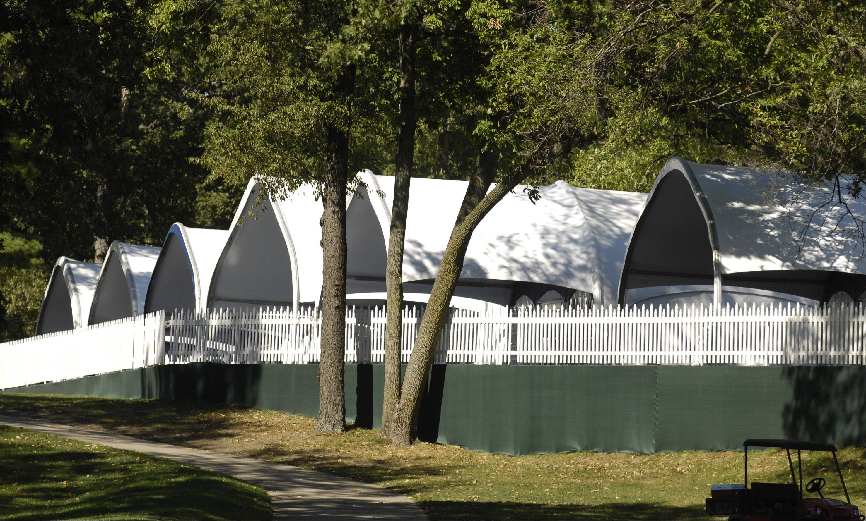 Ryder Cup corporate chalets at Medinah range in size from 50- to 300-guest tents.