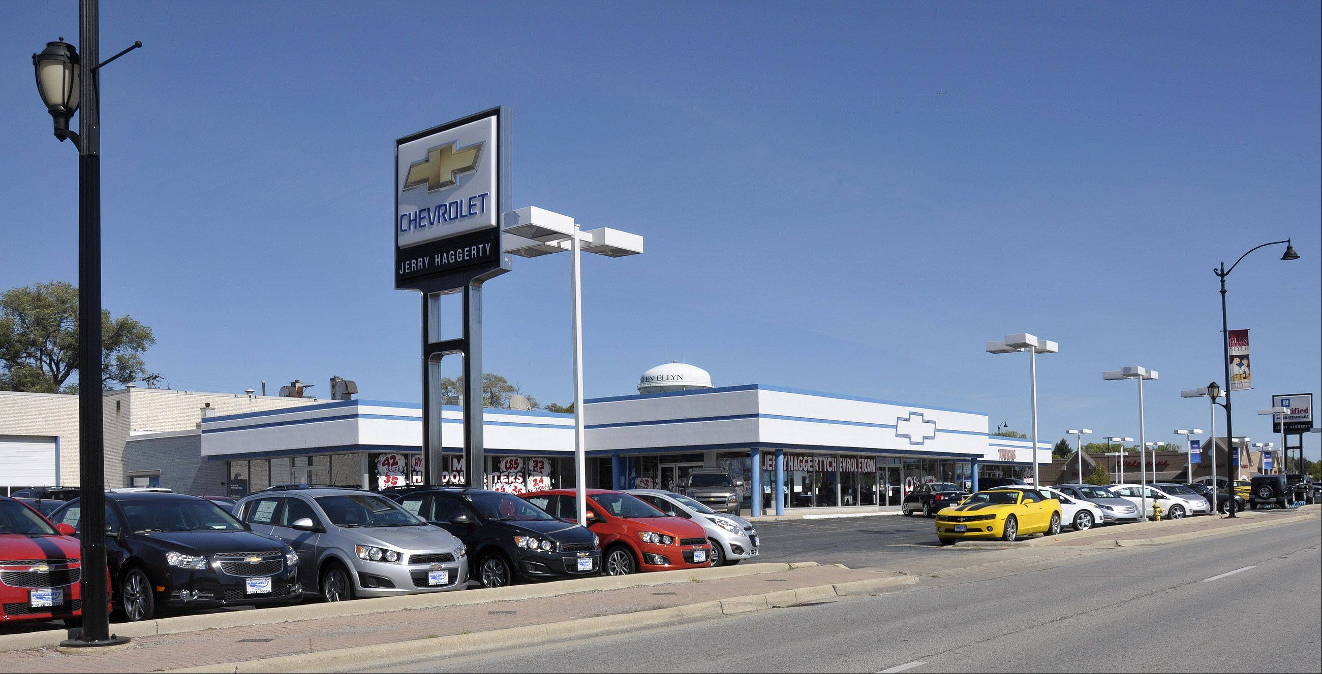 A sales tax sharing agreement approved Monday by the Glen Ellyn village board could allow Jerry Haggerty Chevrolet at 300 Roosevelt Road to collect up to $850,000. The funds will be used to pay for some $1.5 million in facility upgrades mandated by General Motors, Haggerty said.