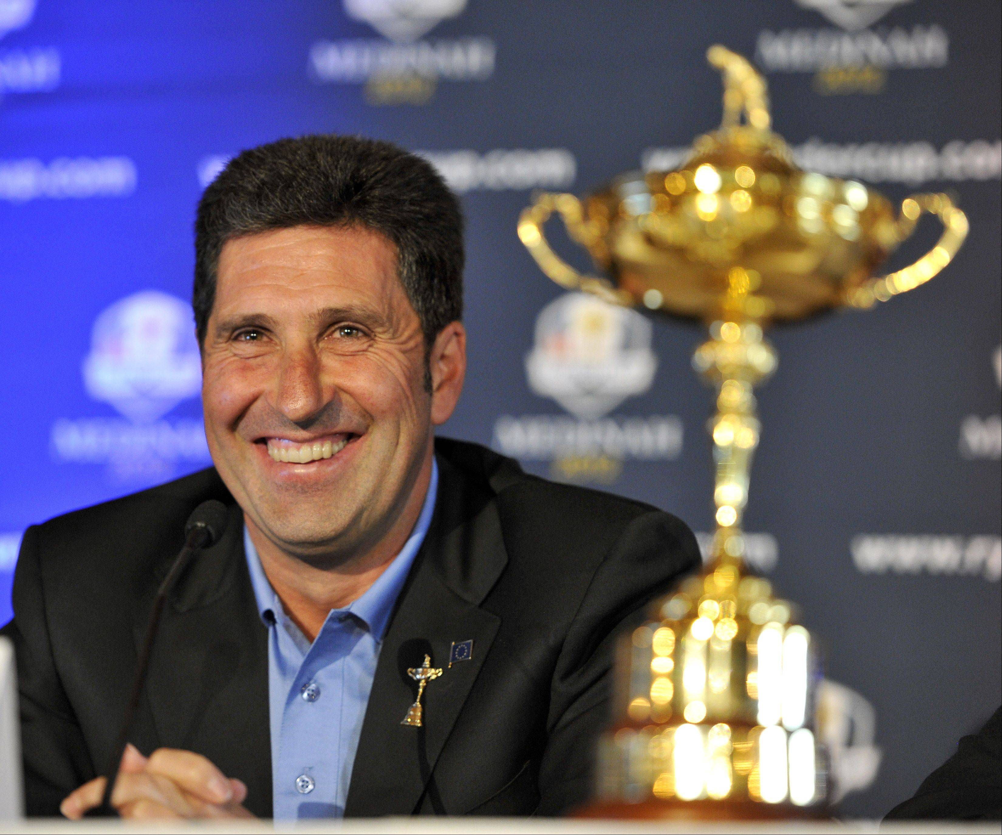 2012 European Ryder Cup captain Jose Mar�a Olazabal has reason to be confident. His team is the defending champion.
