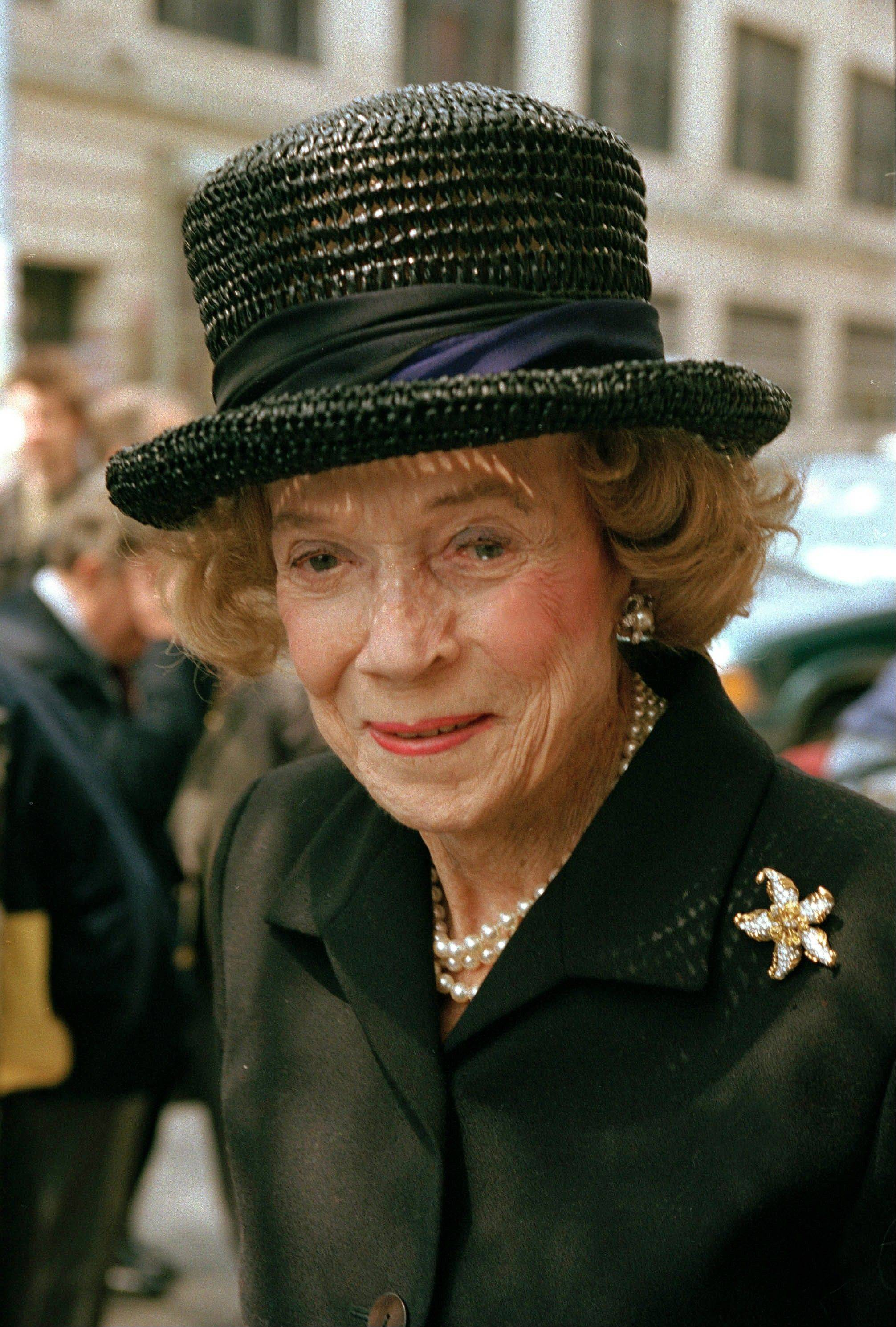 May 1, 1997 file photo of Brooke Astor, then 95.