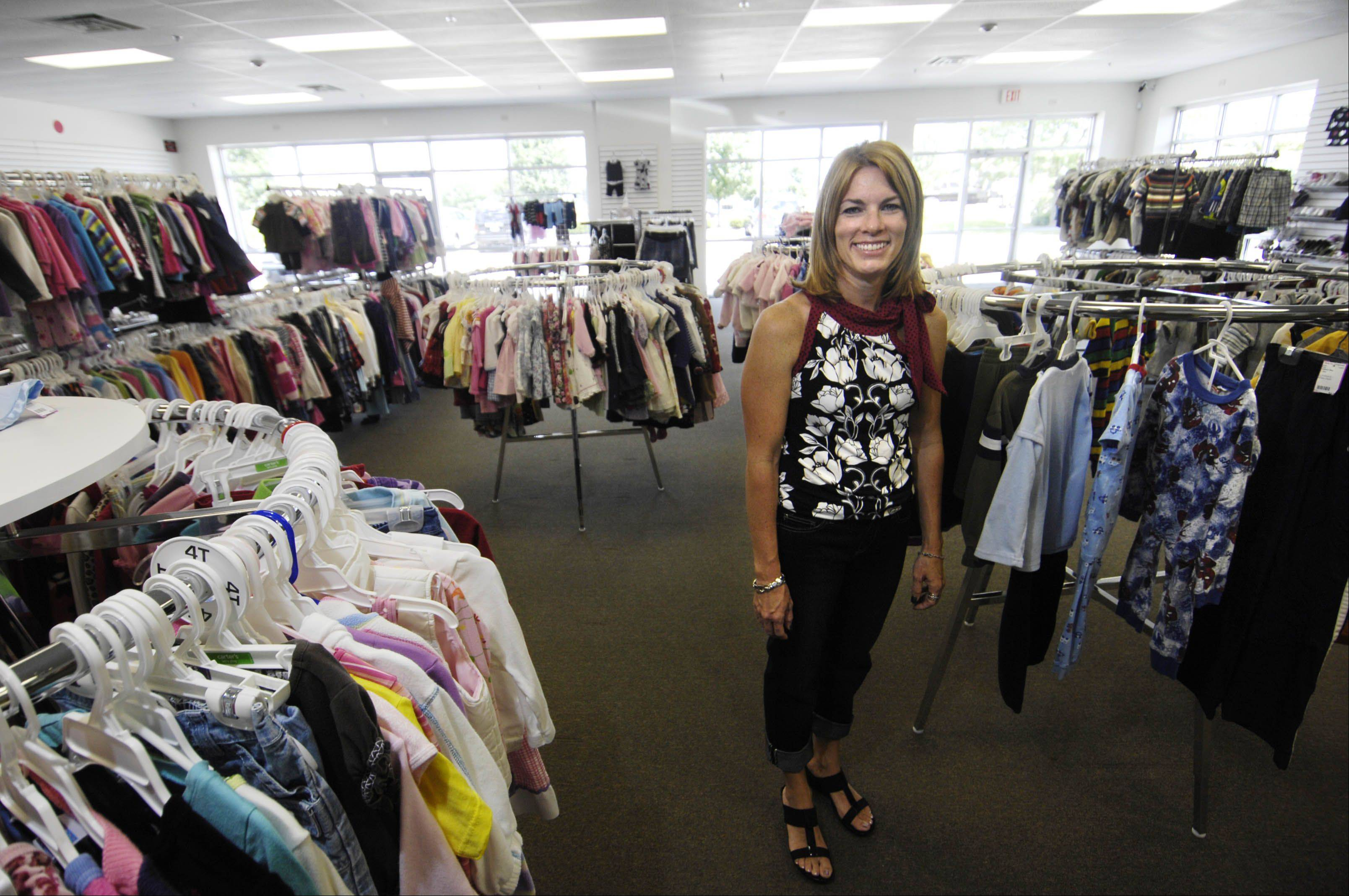Trendy Tots, a consignment shop at the corner of Huntley and Randall Roads in Carpentersville, offers used Halloween costumes and has planned a Girls Night Out for Friday, Sept. 28.