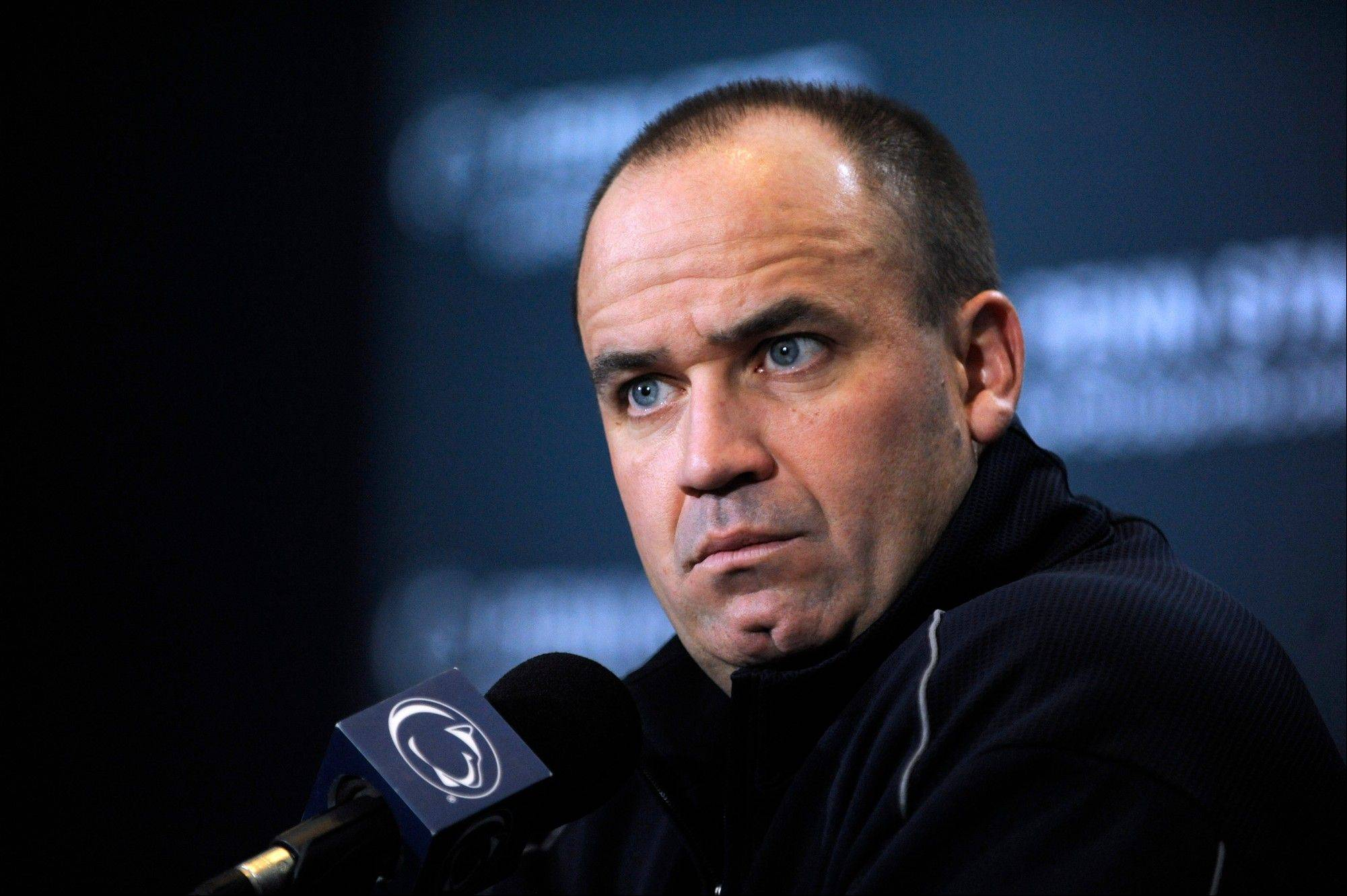 Penn State football head coach Bill O'Brien talks to the media Tuesday during his weekly news conference at Beaver Stadium on the Penn State University campus.