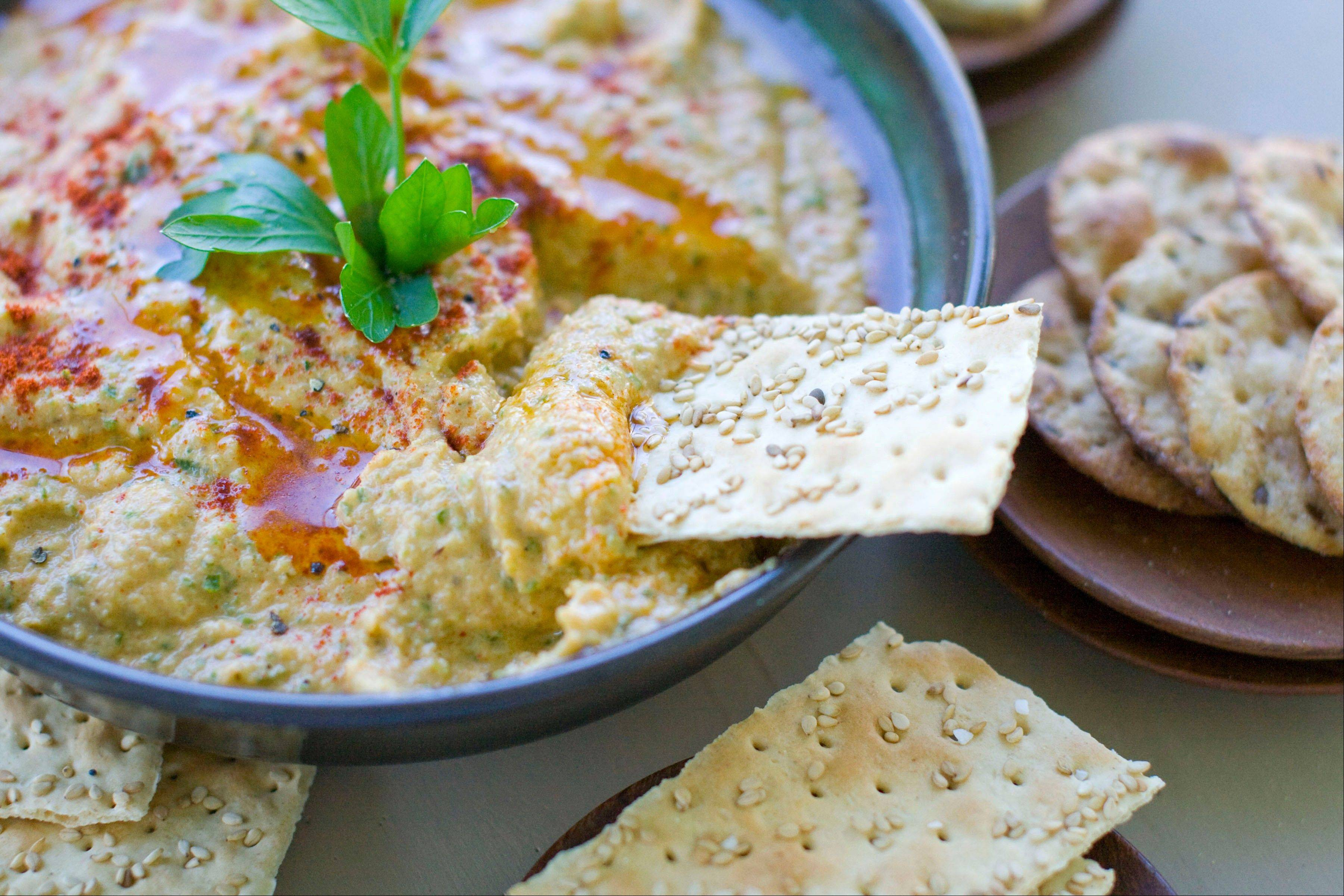 Grilled Zucchini Hummus is a tasty way to use up late summer's harvest.