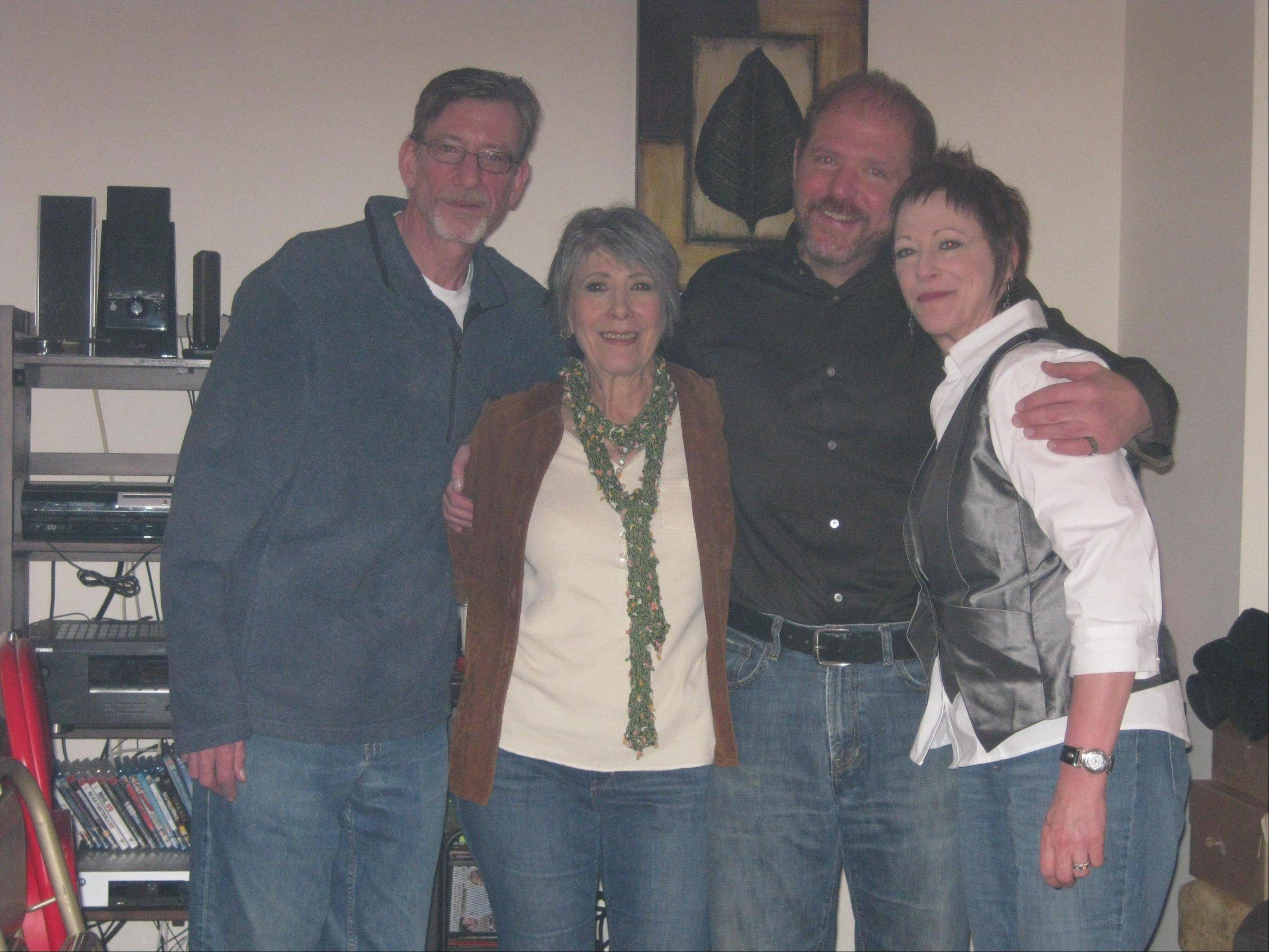 Mark Segal with his mother Naomi Moderick and siblings Allen and Carin during Thanksgiving 2009. Moderick has organized this weekend's Breathe Deep Lake Arlington walk to raise money for the fight against lung cancer, which claimed Segal's life in 2011.