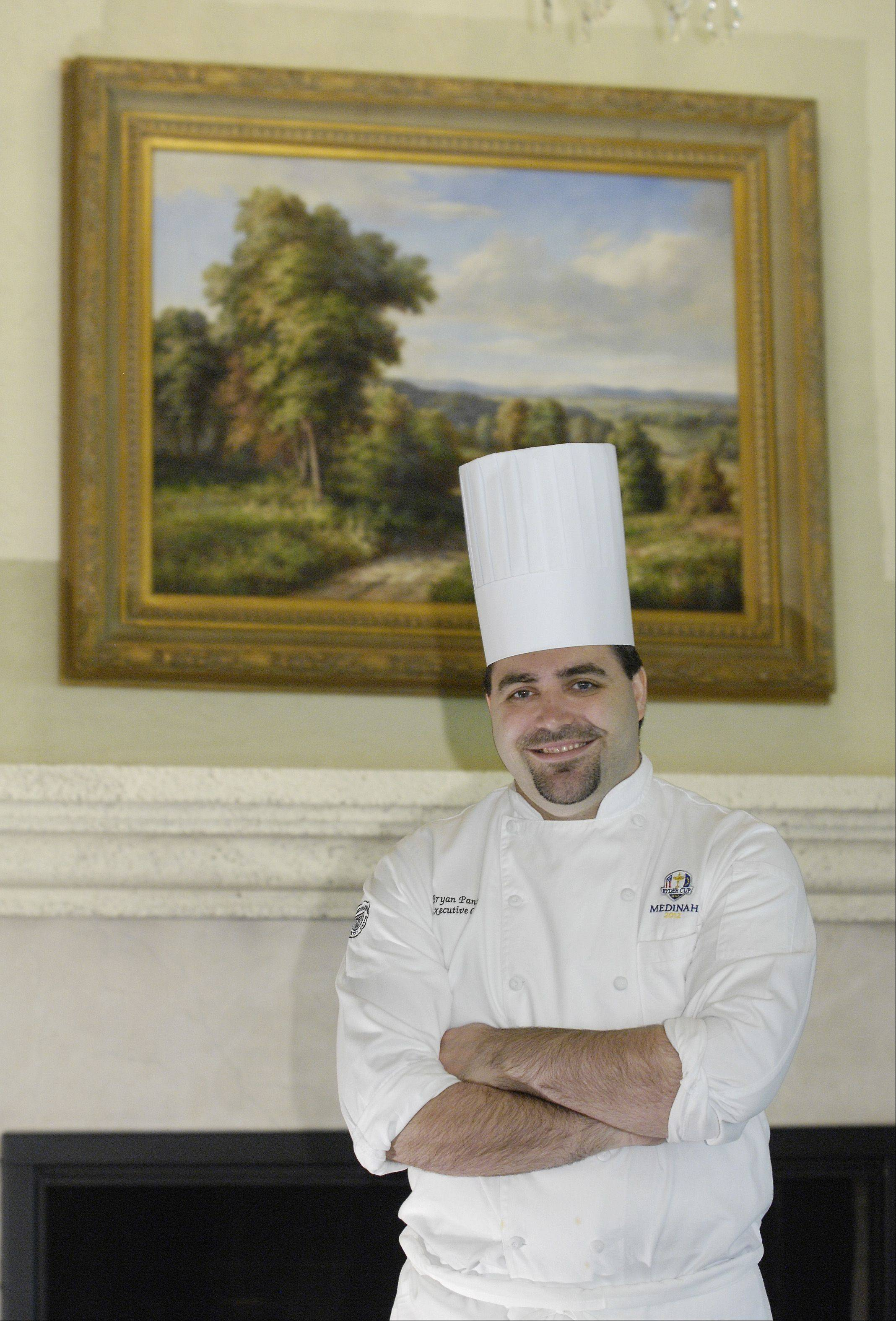 Medinah Country Club Executive Chef Bryan Panico has been planning menus for the Ryder Club for more than a year.