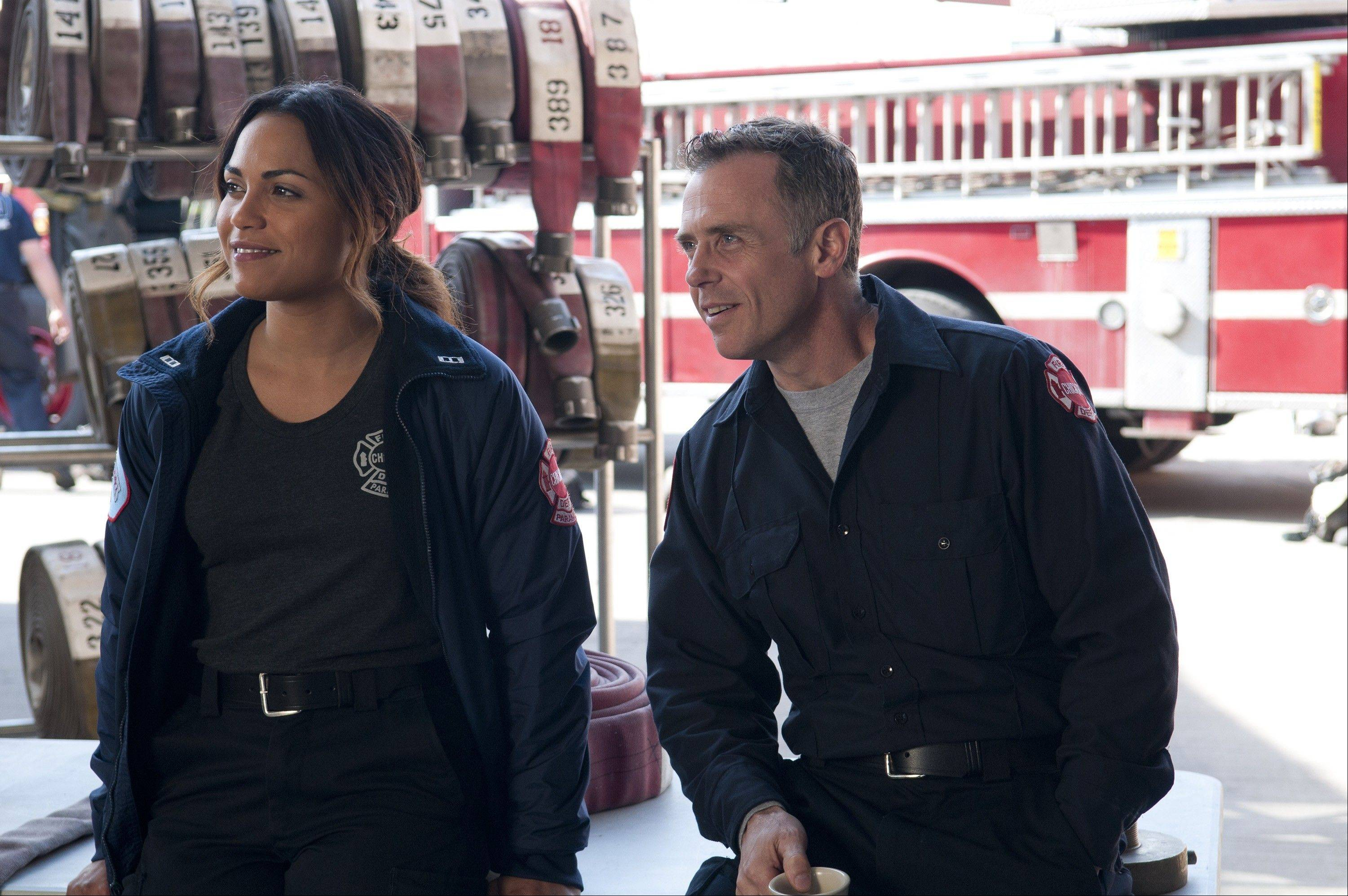 "Actor David Eigenberg, 48, of Naperville, co-stars in the new NBC drama series ""Chicago Fire."""