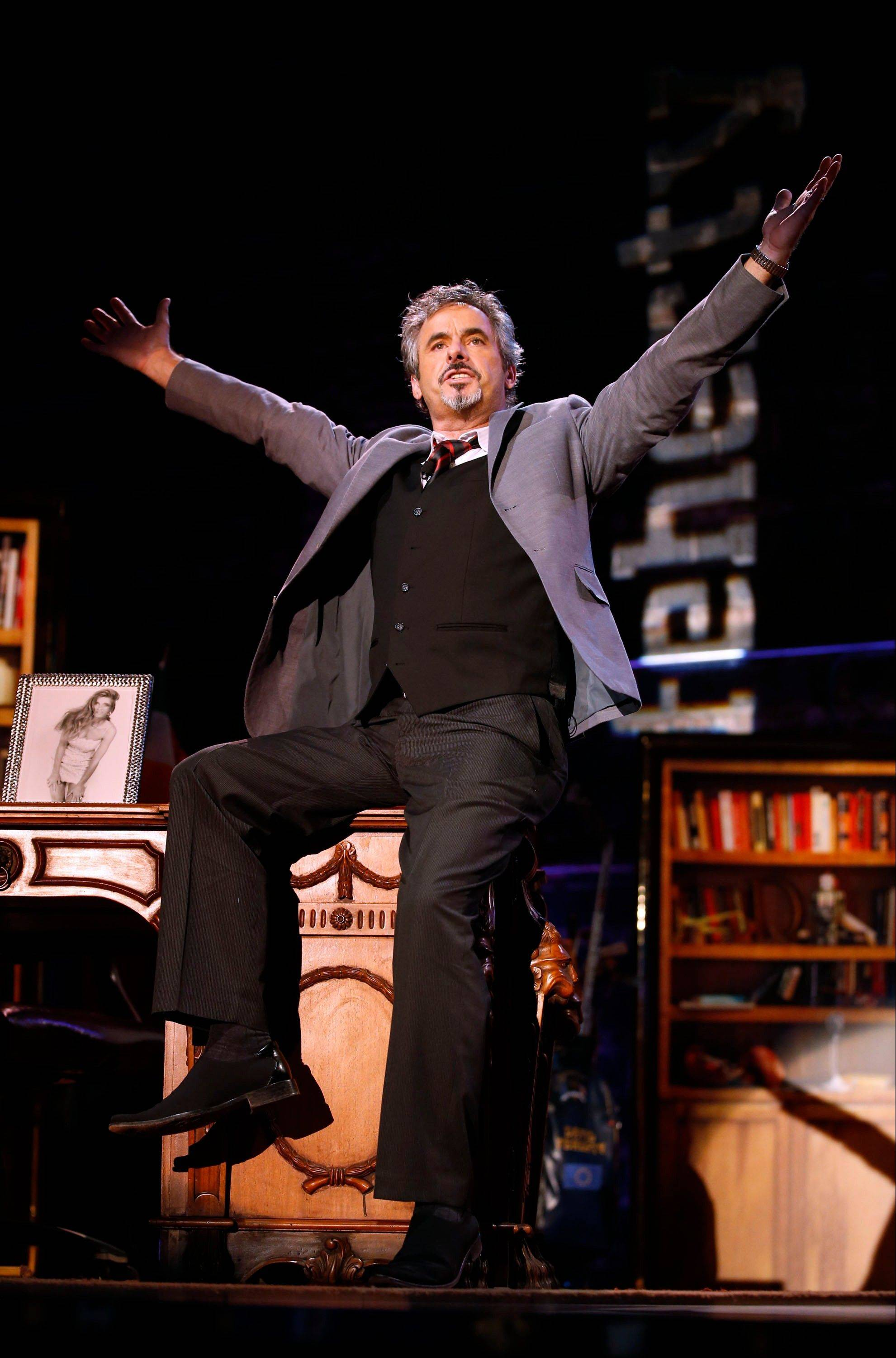 David Feherty has fun with the audience Monday at Golf Channel's 'Feherty Live From the Ryder Cup' at the Tivoli Theatre in Downers Grove.