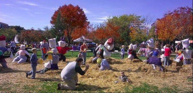 Come to Autumn Harvest Saturday Oct. 6, at North Park School, and enter the scarecrow building contest.