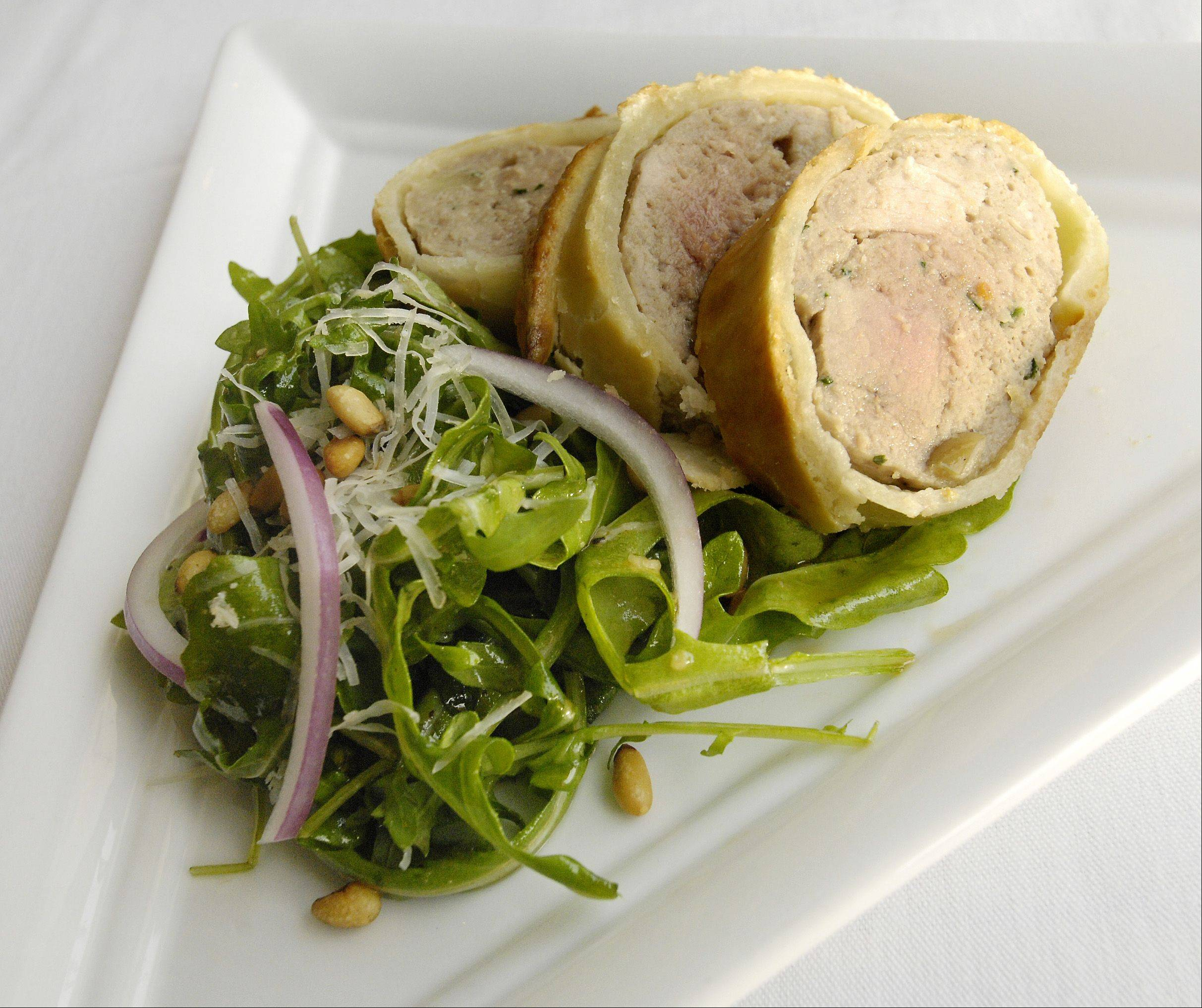 The European Ryder Cup team will be dining on Pork and Apple Sausage en Croute and Rocket Salad that Medinah Country Club Executive Chef Bryan Panico created for the tournament.