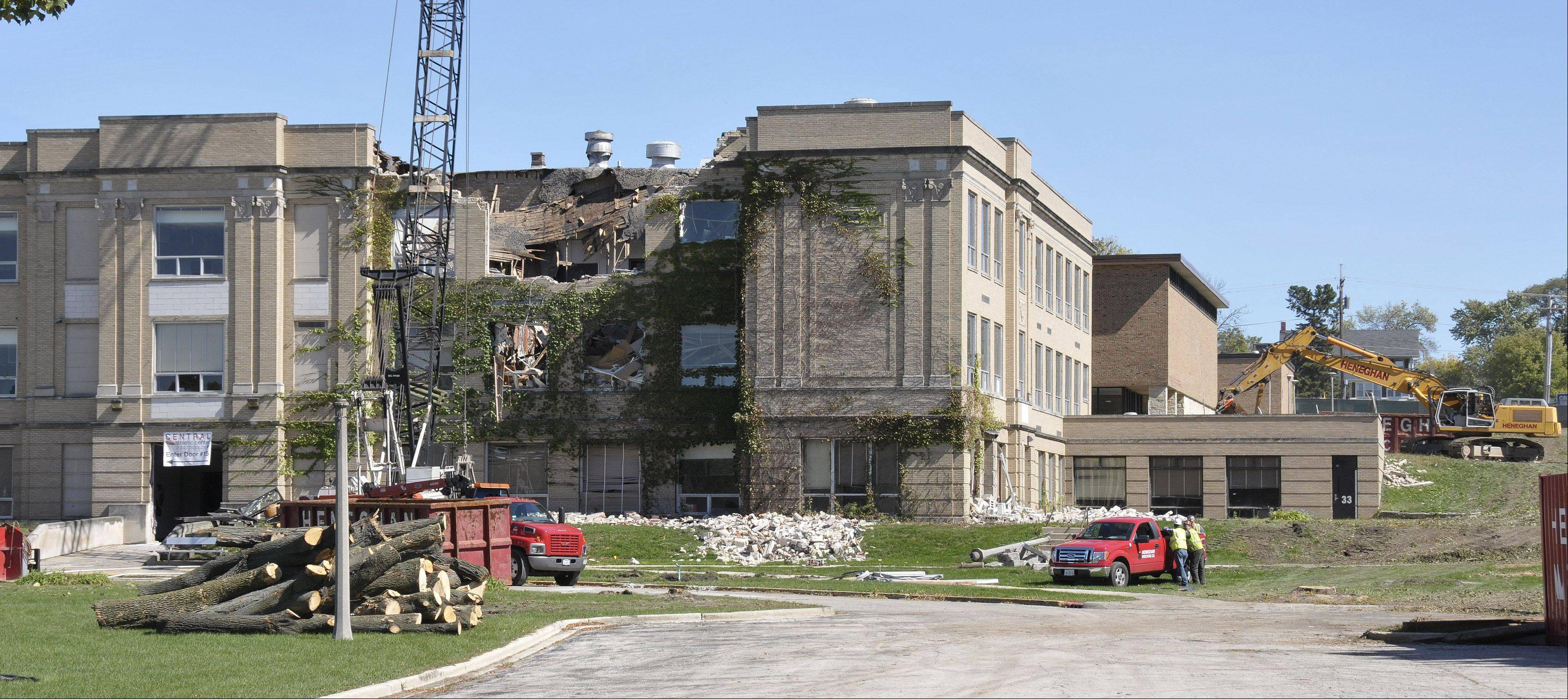 The former Hubble Middle School in Wheaton is facing the wrecking ball this week.