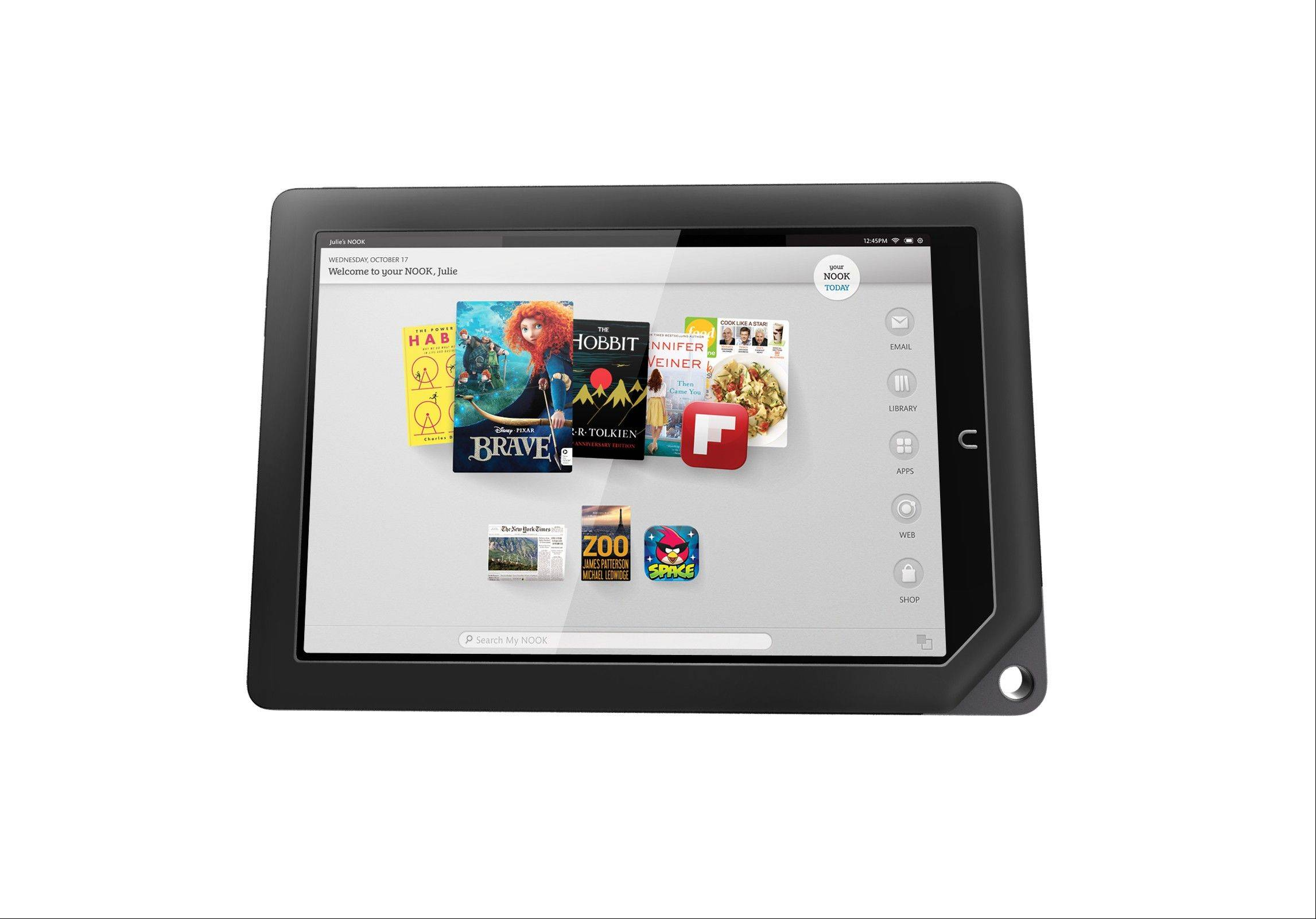 One of the two new Nook tablets the company will be releasing in the fall of 2012.
