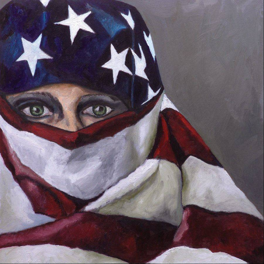 """Self Portrait: Trapped in Freedom"" by Andrea Harris is just one of 80 works that will be on display at ""The Personal is Political: The Transformative Power of Women's Art"" at Oakton Community College's Des Plaines campus Oct. 4-26."