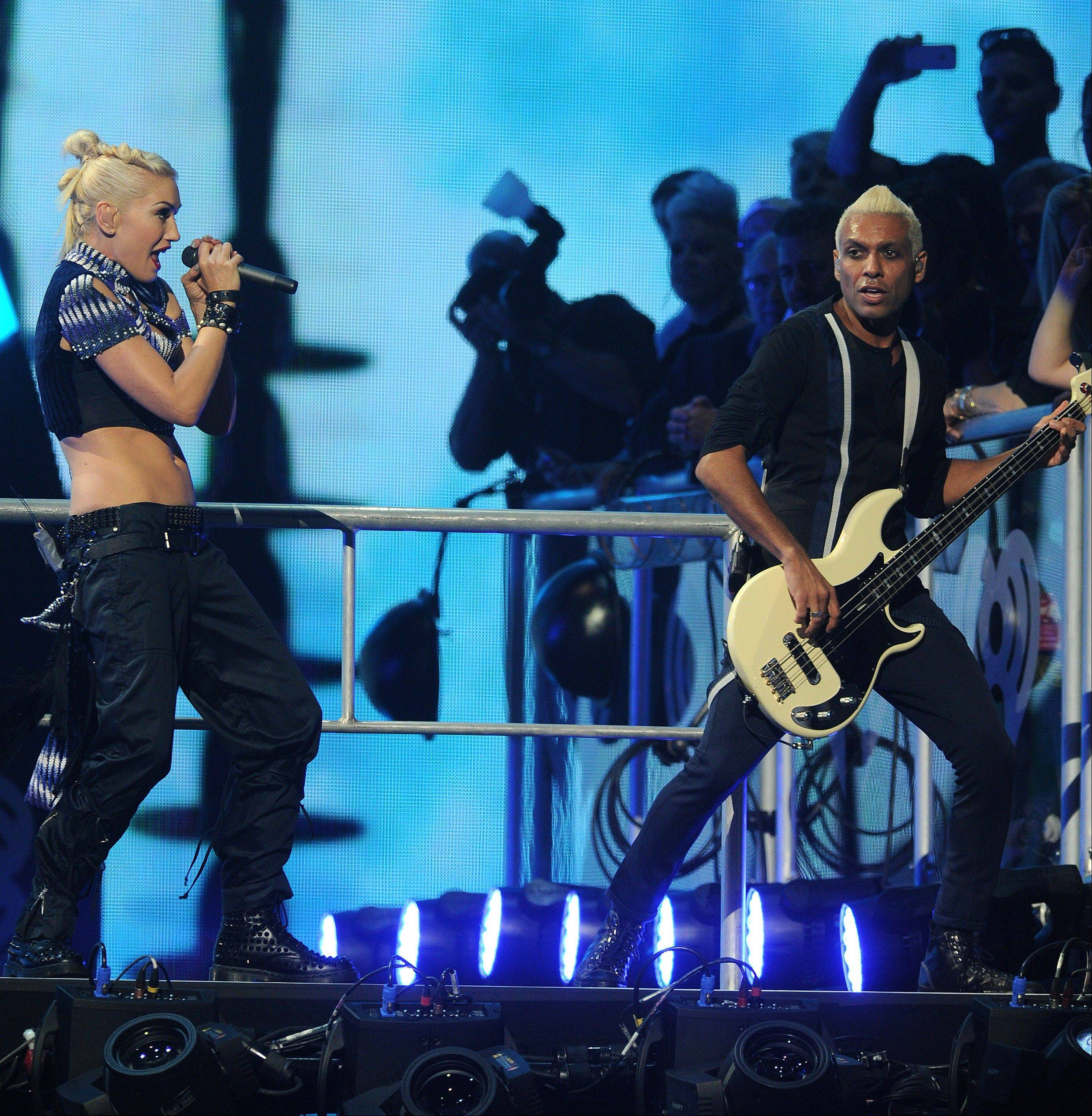 "Gwen Stefani and Tony Kanal shared songwriting duties on No Doubt's new album, ""Push and Shove."""