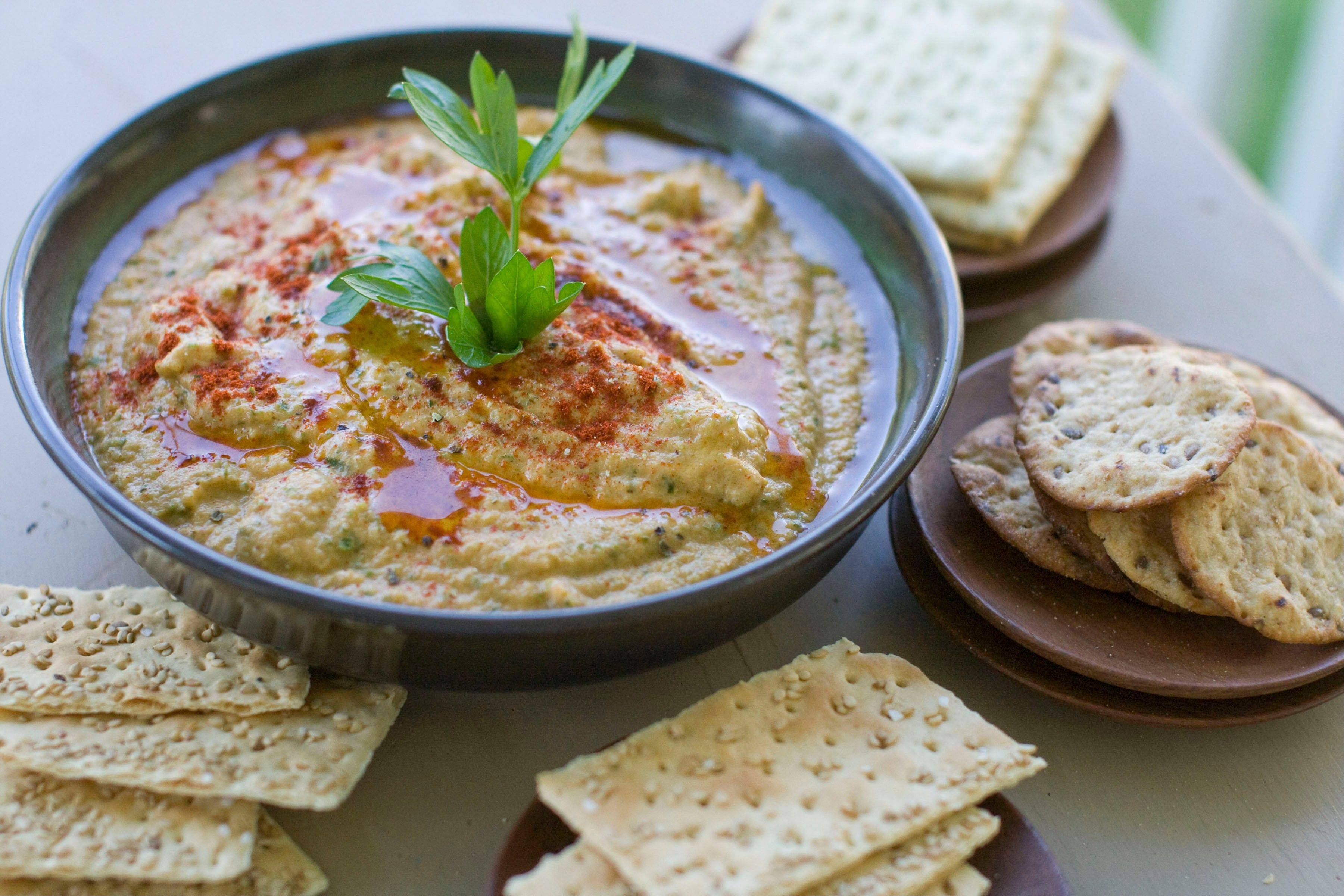 Grilled Zucchini Hummus is a delicious new way to use up the season's bounty.