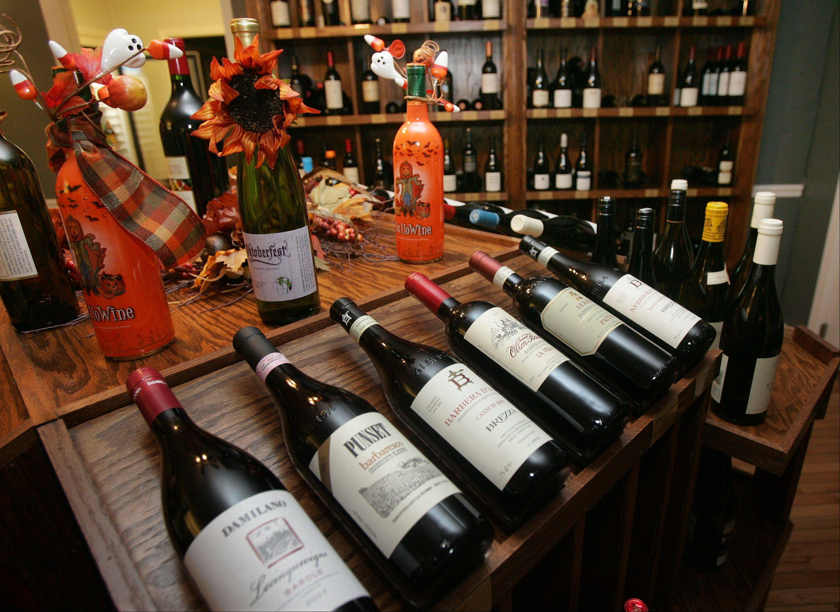 The wine room offers a large selection of bottles at WineSplash in Long Grove.