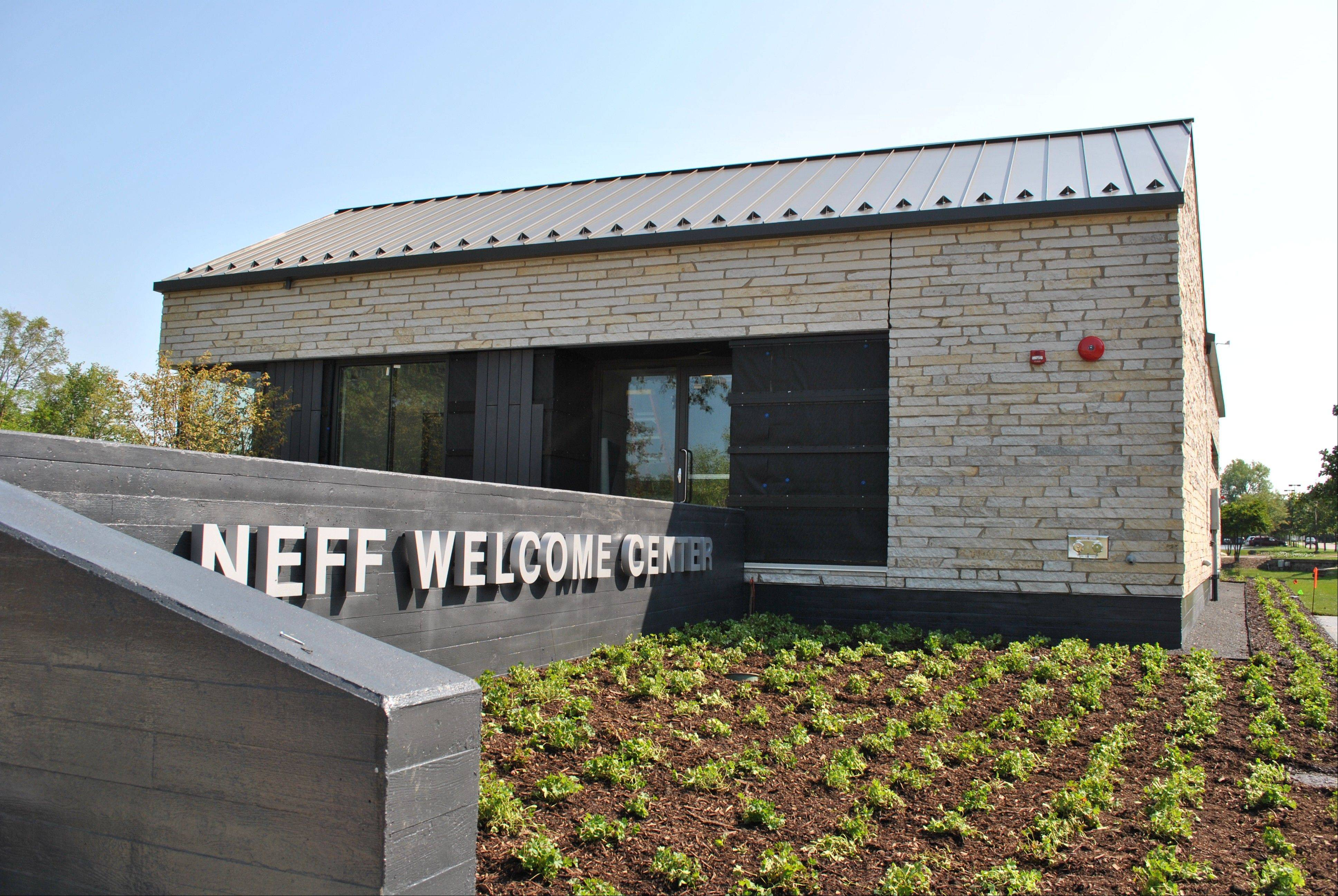 Visitors can get a close look at Benedictine University's new Neff Welcome Center during a Monday open house.
