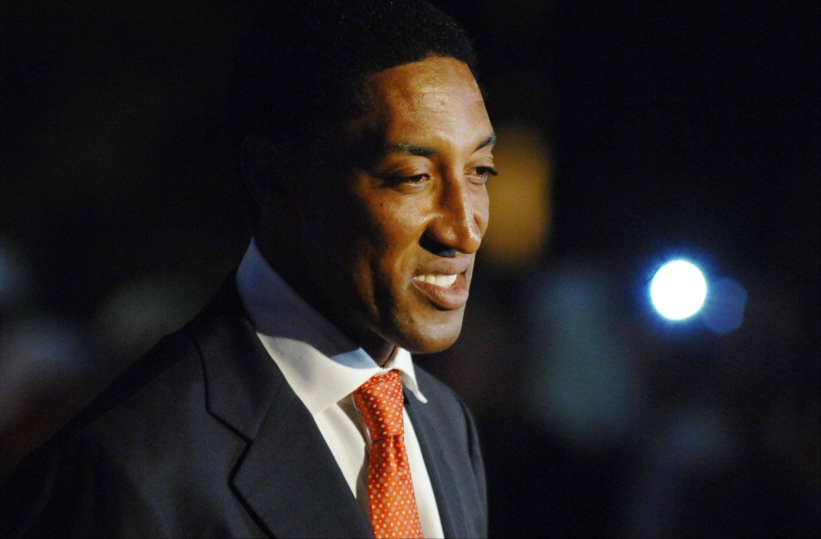 Bulls great Scottie Pippen walks the 39th Ryder Cup Gala red carpet at the Akoo Theatre in Rosemont Wednesday.