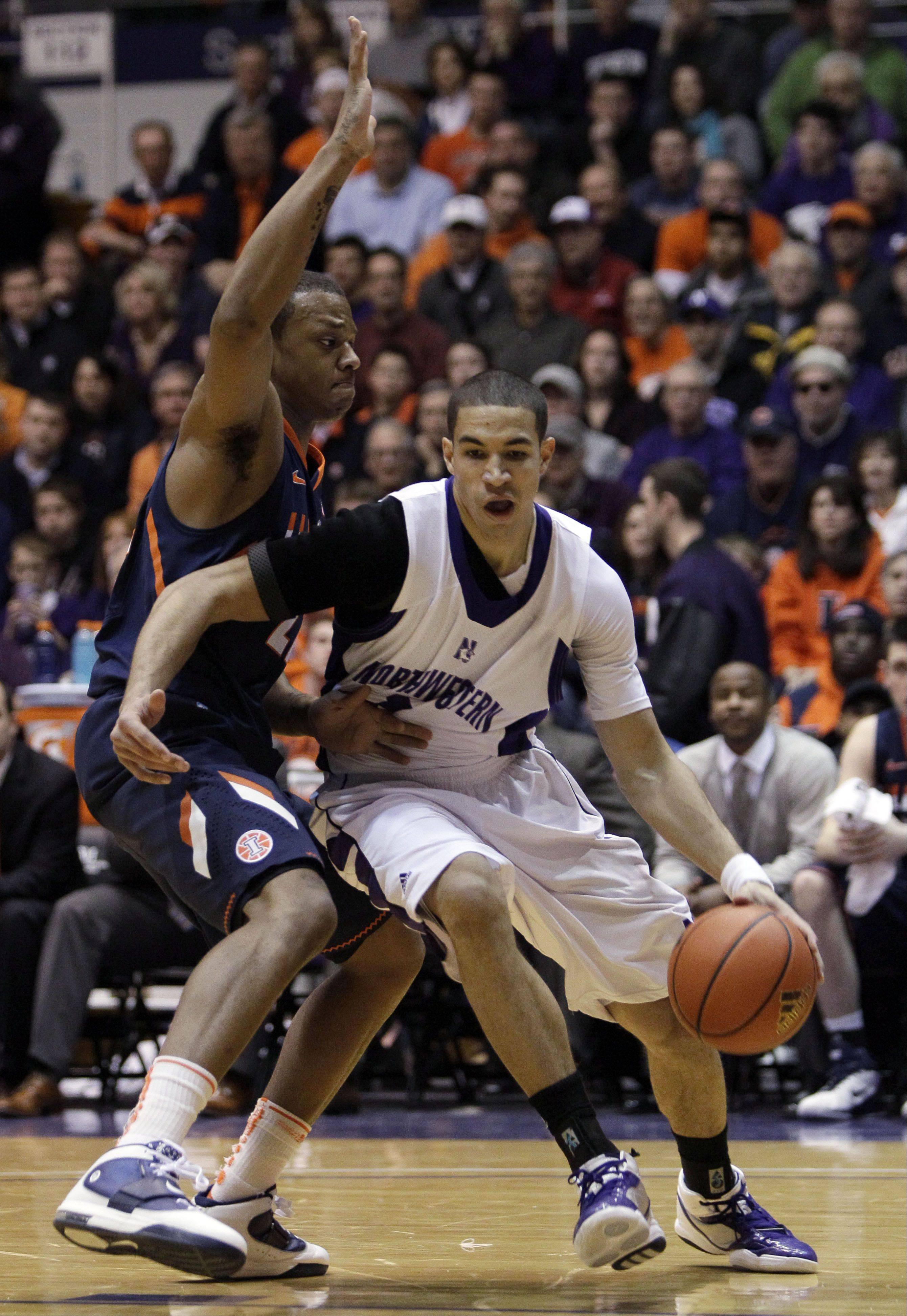 Naperville's Drew Crawford, right, returns for another season of Northwestern basketball.