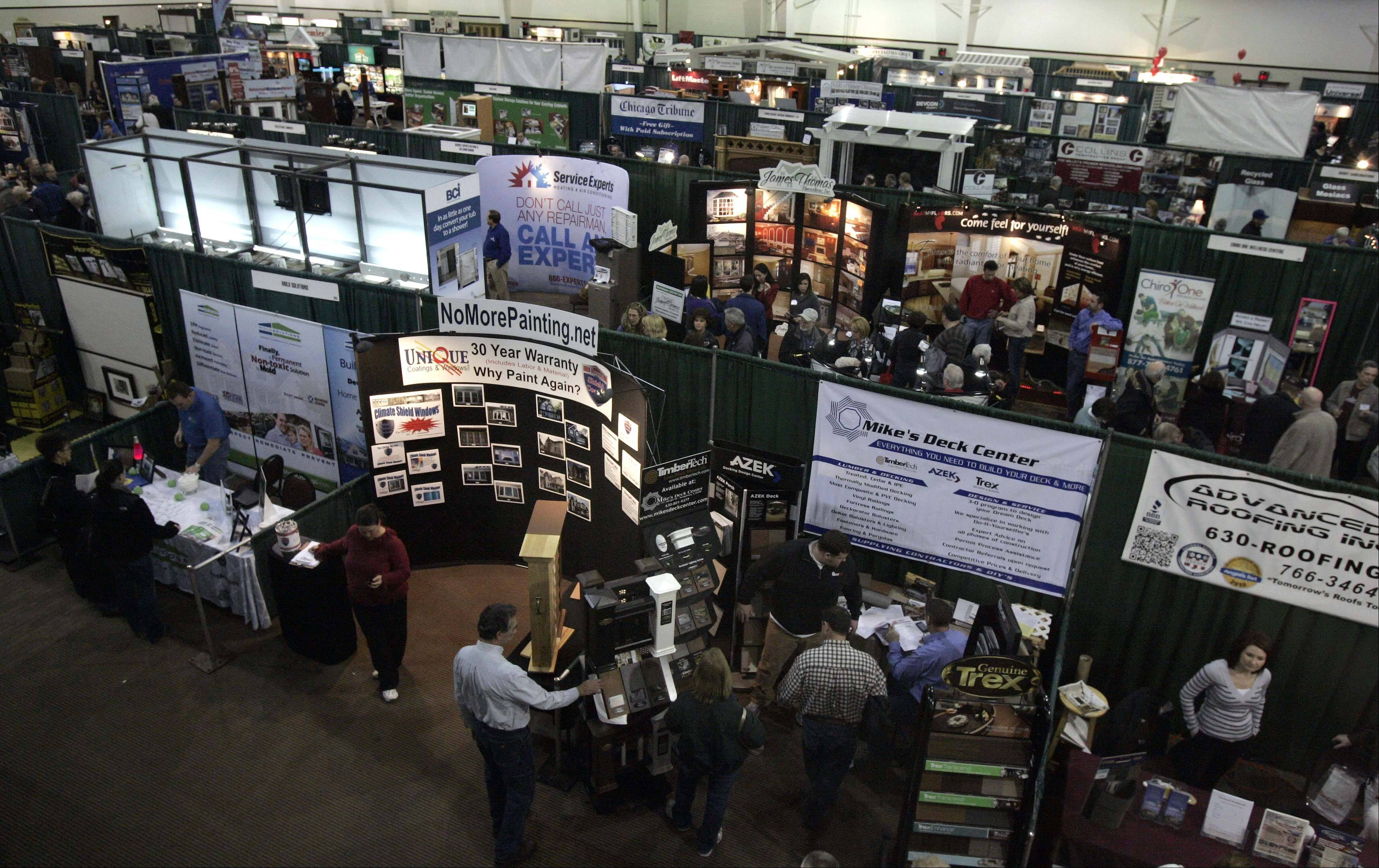 The 27th annual Old House New House Home Show featured more than 250 vendors and 340 booths with everything from carpentry to landscaping.