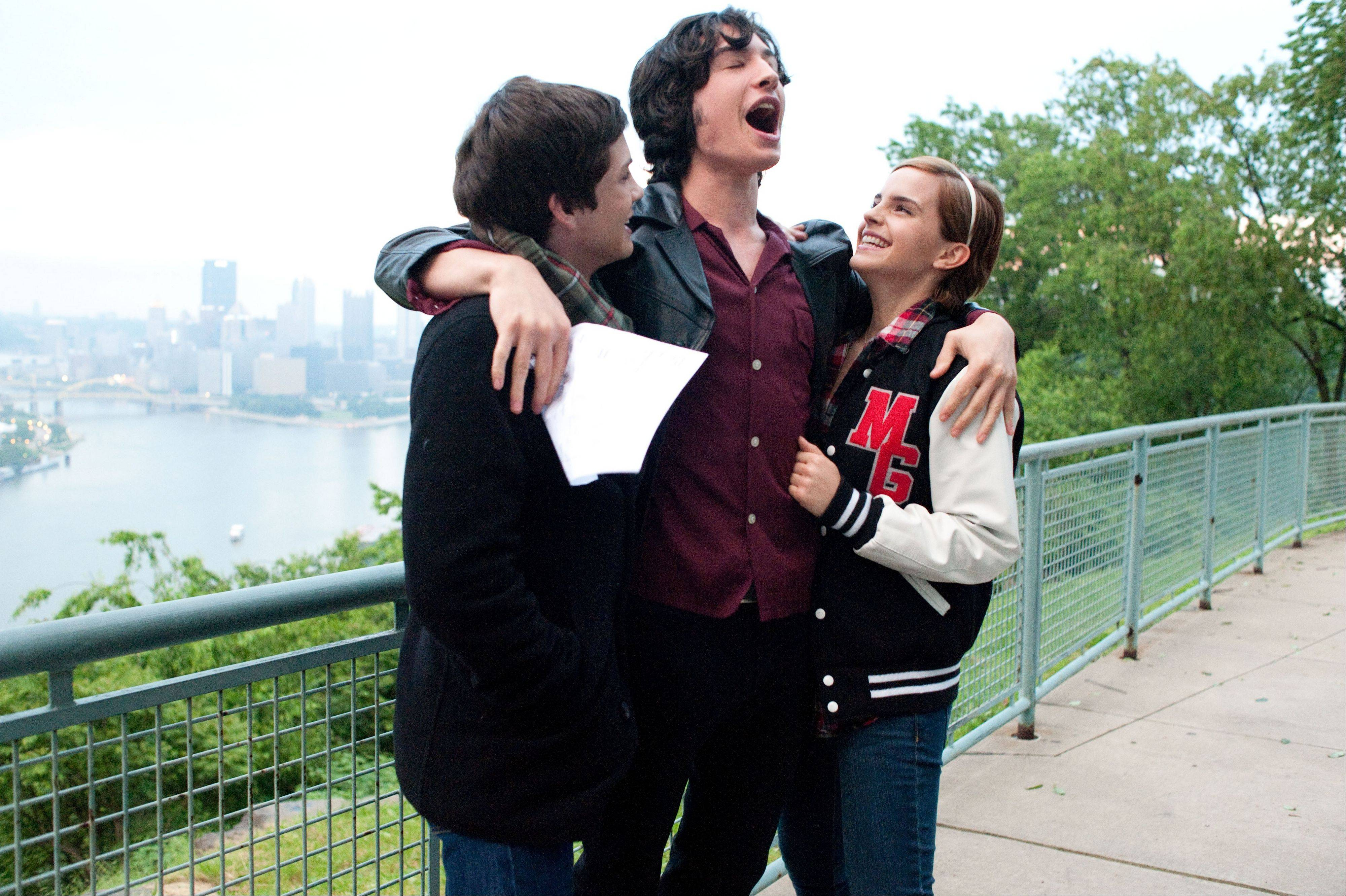 "Logan Lerman, Ezra Miller and Emma Watson navigate the sometimes difficult waters of teenage life in ""The Perks of Being a Wallflower."""