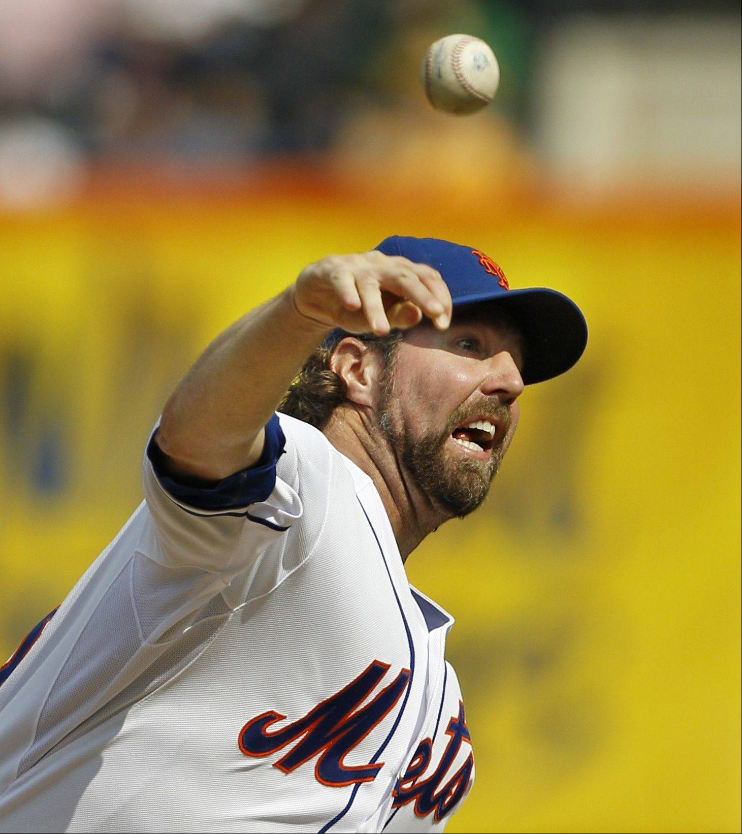 Mets starting pitcher R.A. Dickey tied his career-high with 13 strikeouts in Thursday's victory over the Pirates in New York.