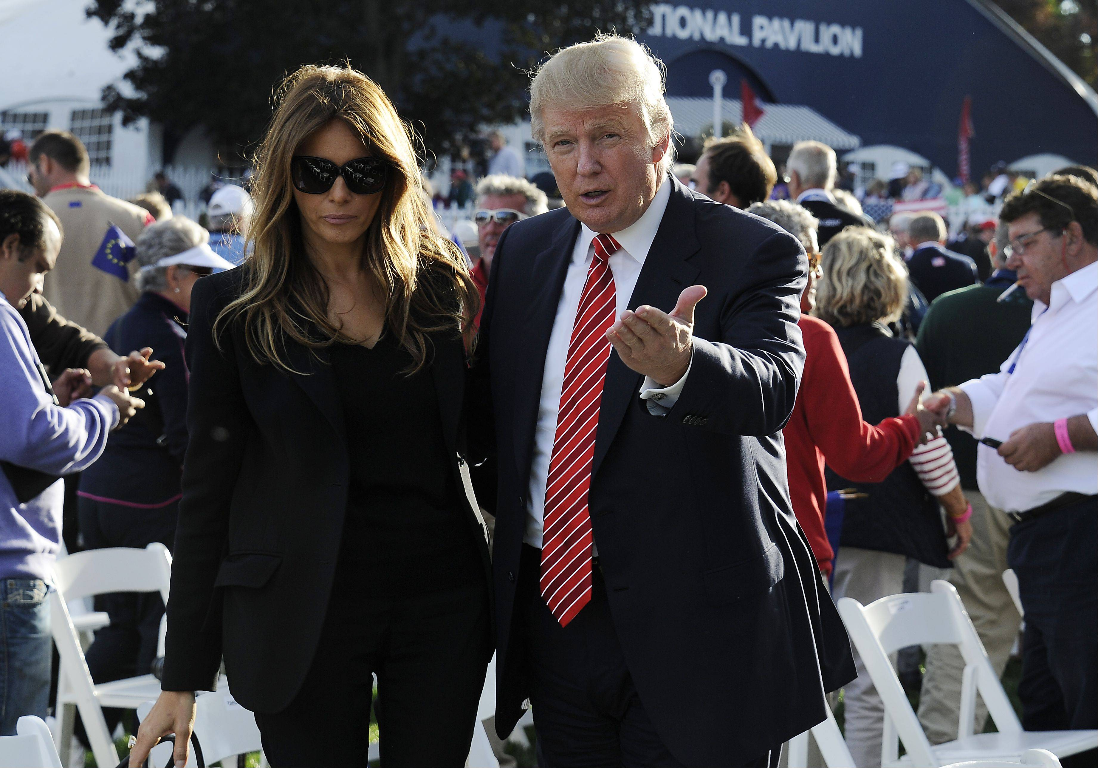 Donald Trump and wife, Melania, were there for the opening ceremonies of the Ryder Cup in Medinah on Thursday.